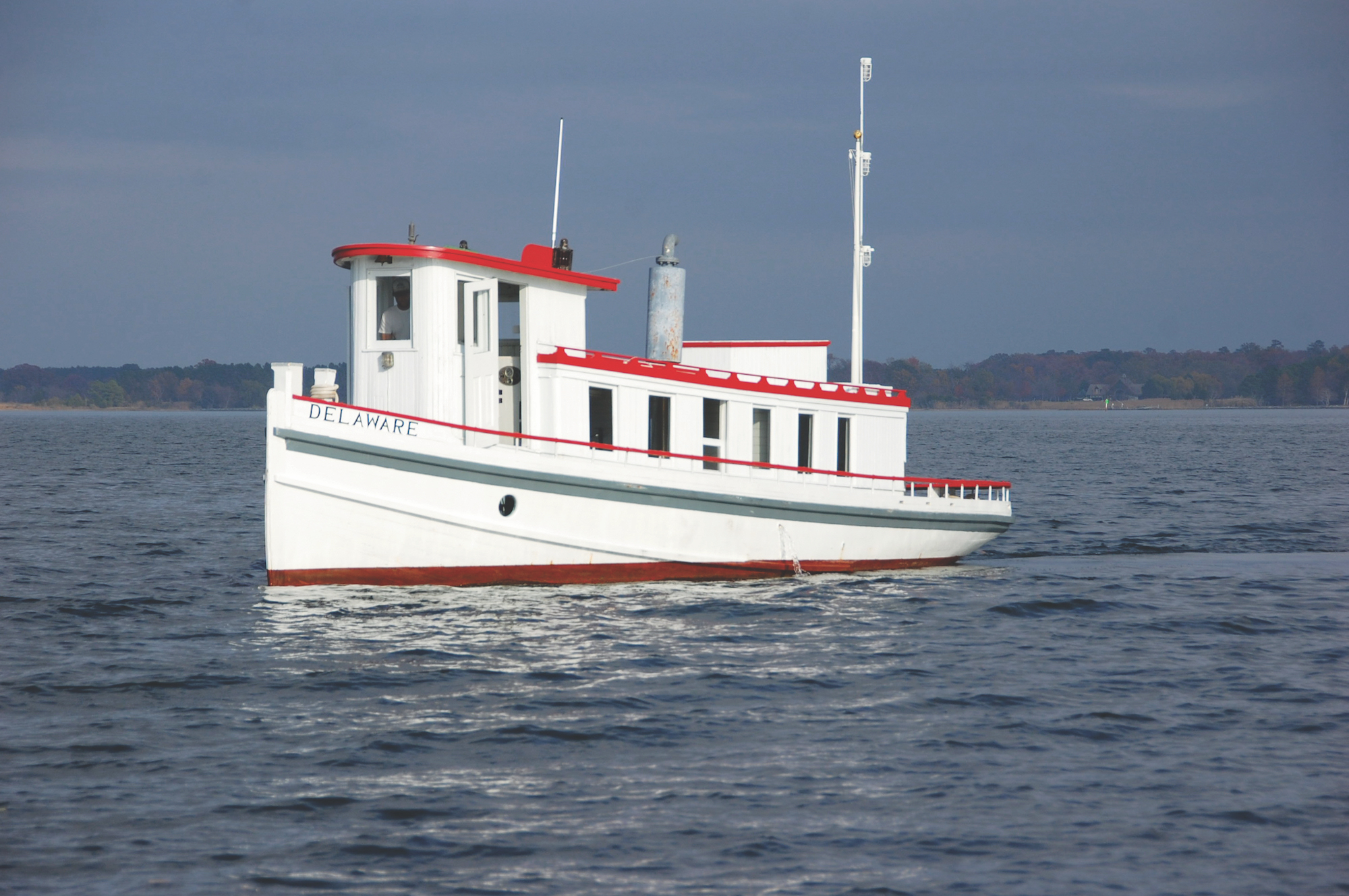 The Chesapeake Bay Maritime Museum will begin a restoration of 1912 tug  Delaware  this winter, following the relaunch of 1889 bugeye  Edna E. Lockwood  in October. To learn more, visit  cbmm.org.