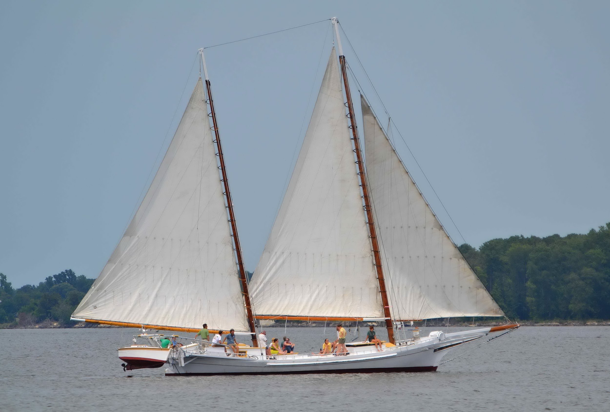 The Chesapeake Bay Maritime Museum's 1889 bugeye  Edna Lockwood  is pictured sailing the Miles River in St. Michaels, Md. The National Historic Landmark underwent a two-year restoration of her nine-log hull from 2016–2018, and will be traveling to numerous ports of call this summer on heritage tour dedicated to educating the public about traditional Bay boatbuilding techniques and the oystering industry past and present.