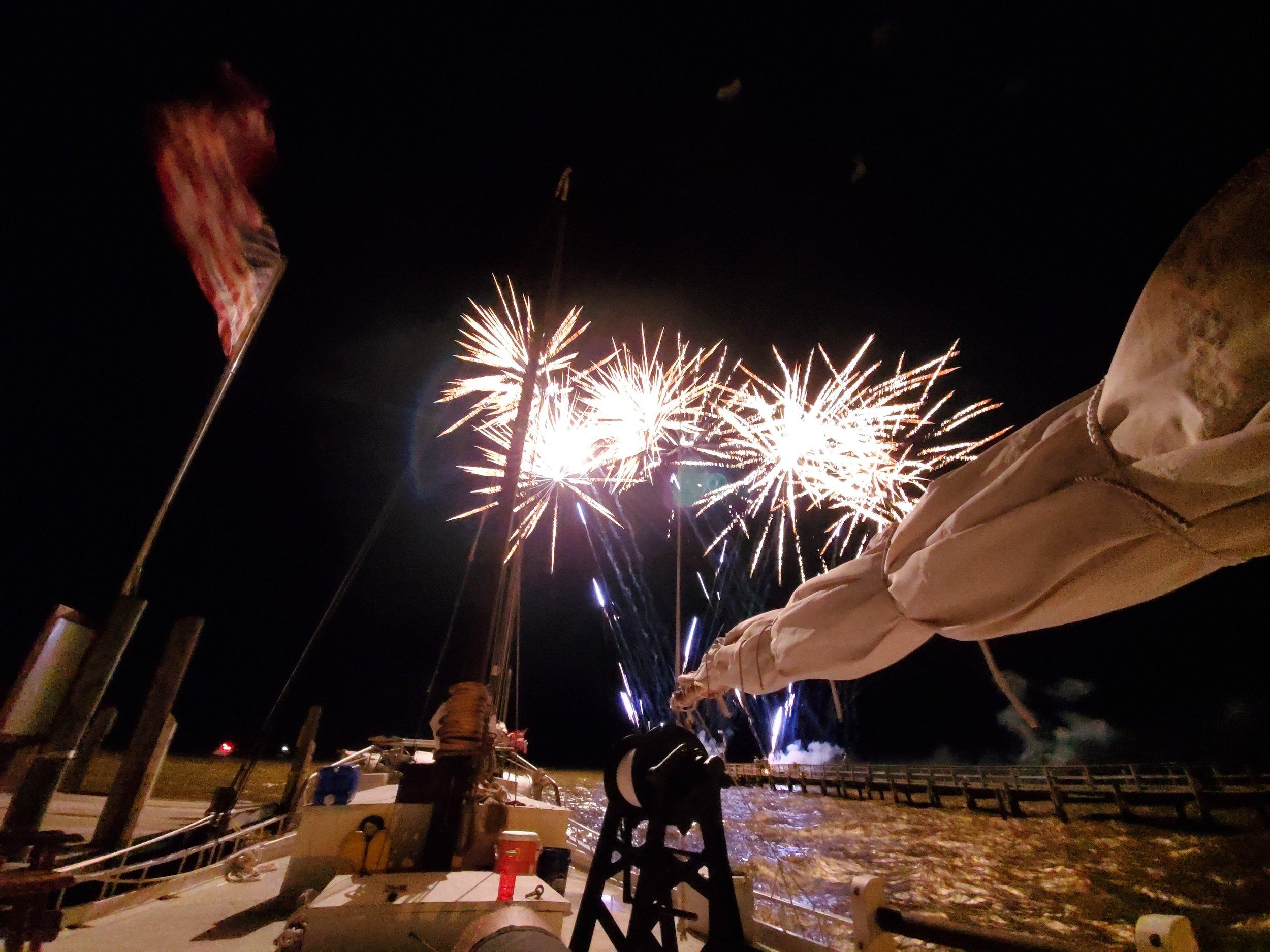 Fireworks over Edna