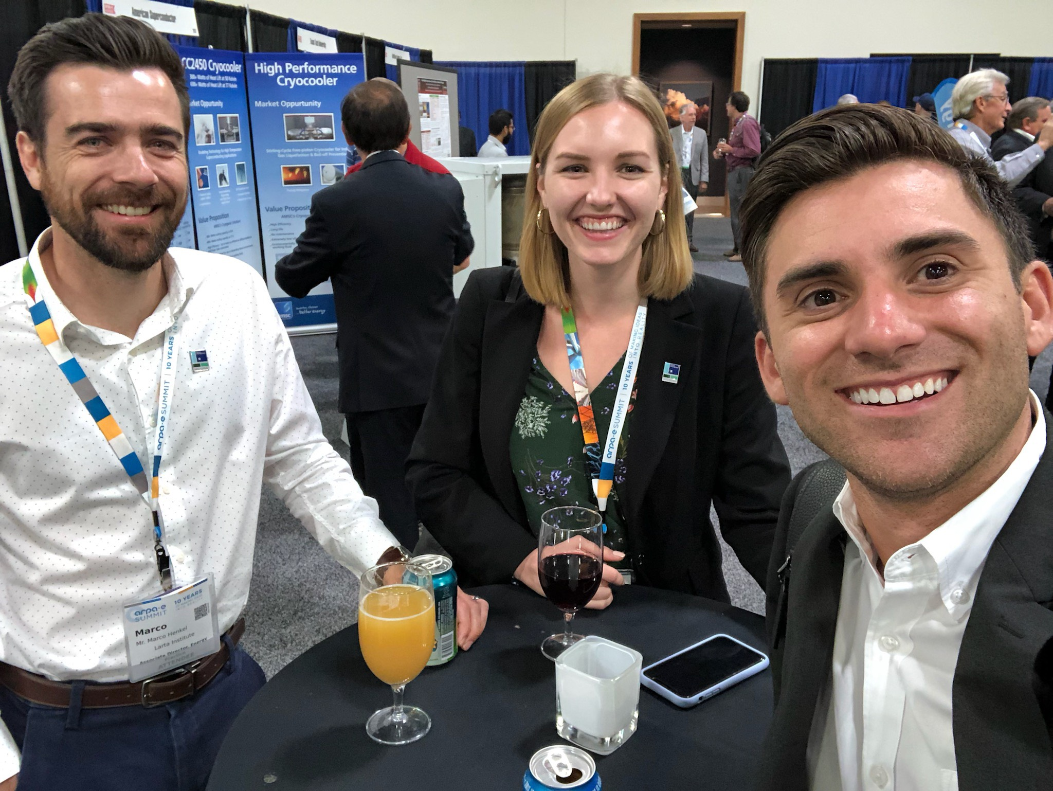 Left to right: Marco Henkel: Larta's Associate Director, Energy; Claire Anderson, Larta's Program Manager, Energy; Ryan RemingtonL Senior Business Developer at Jameson & Company, CPAs