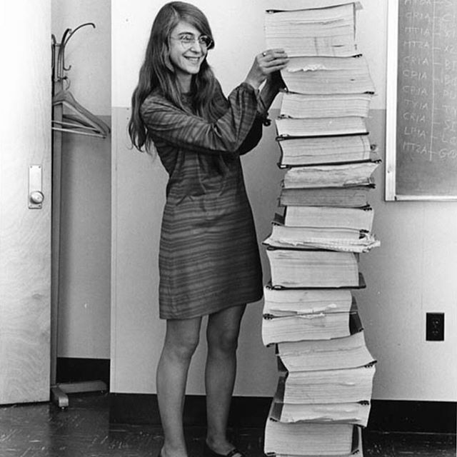 🎶If you believe, They put a man on the moon 🎶 . It's because of this woman right here. Computer scientist Margaret Hamilton created the code (that she is standing beside) to help launch Apollo 11, the first manned mission to the moon. . . . #womenshistory #history #historyteachers #stem #womeninstem #womenwhohustle #womenempowerment #women
