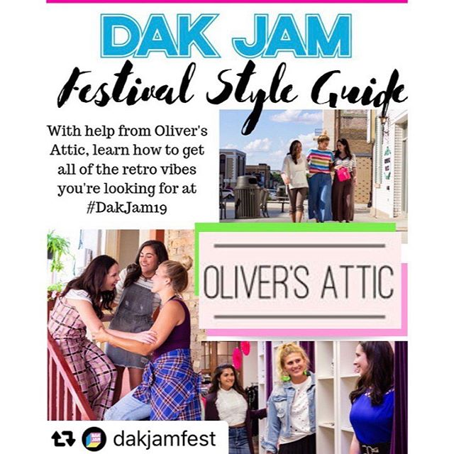 #Repost @dakjamfest · · ·  Madonna, Cher from Clueless, and Paris Hilton all have one thing in common. They were style icons for their decade.  #DakJam19 wants you to break out your best and favorite retro looks. With Help from @oliversattic in Minot we've come up with this style guide to help turn those cringe-worthy trends into modern hits!  Trust us, you'll be looking like a total Betty! (Clueless reference, you're welcome 😉) #nightsofnostalgia