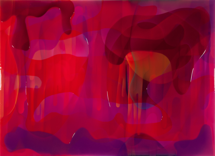 "Cake,  Epoxy Resin on Canvas, 78.75""H x 118""W"
