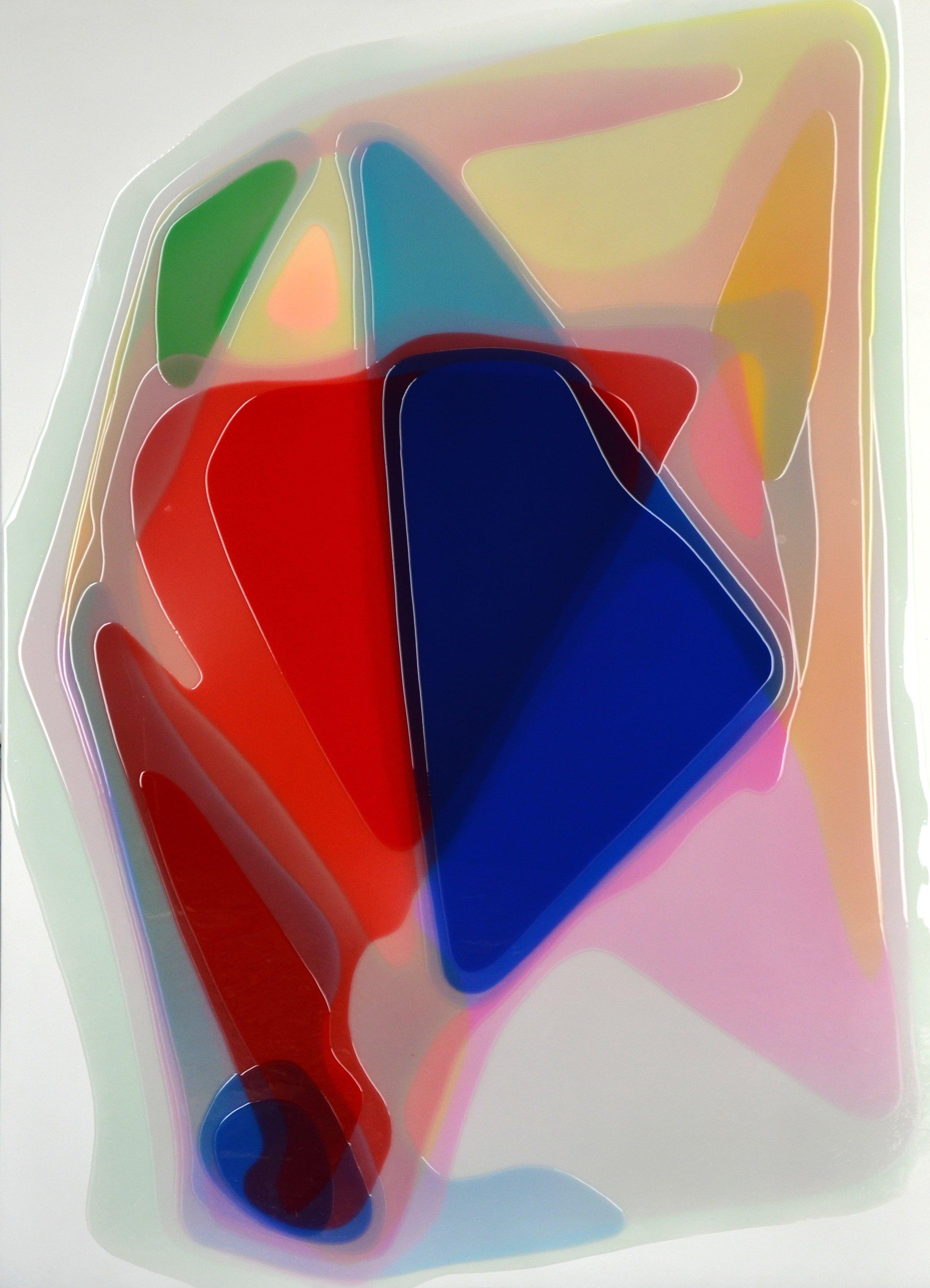 "Crystal,  Epoxy Resin on Canvas, 70.75""H x 51""W"