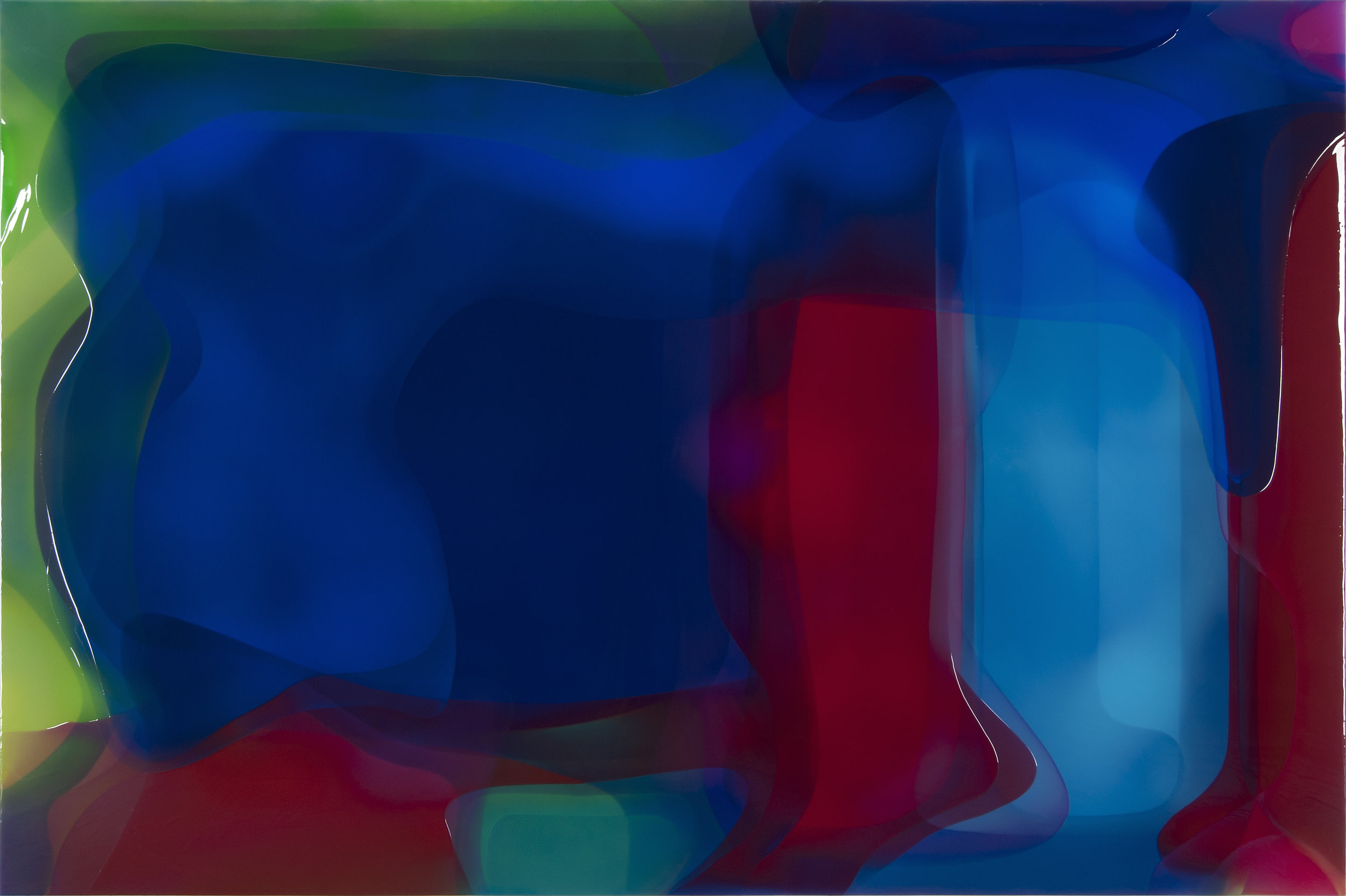"Cray,  Epoxy Resin on Canvas, 78.75""H x 118""W"