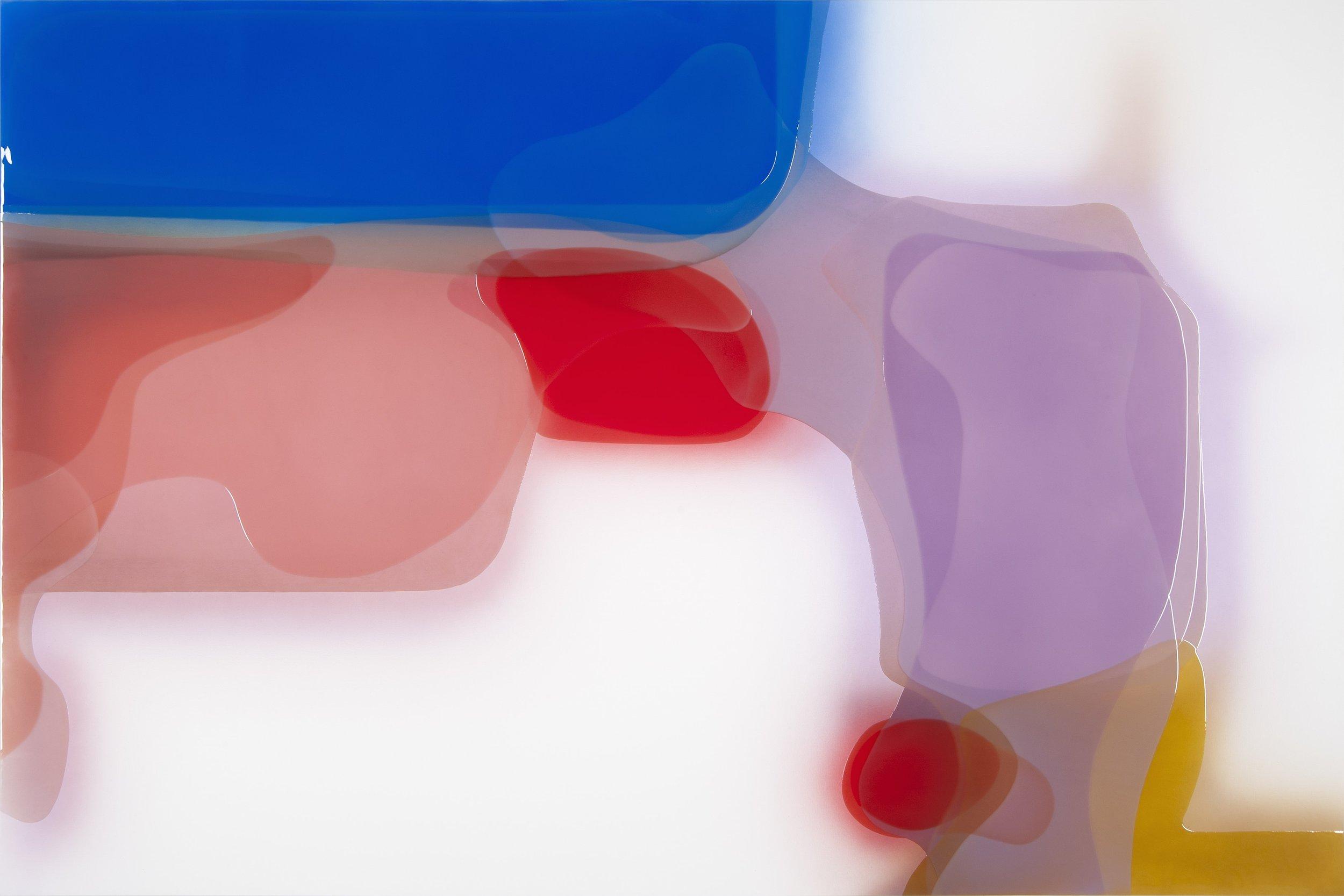 "Temper,  Epoxy Resin on Canvas, 78.75""H x 118""W"