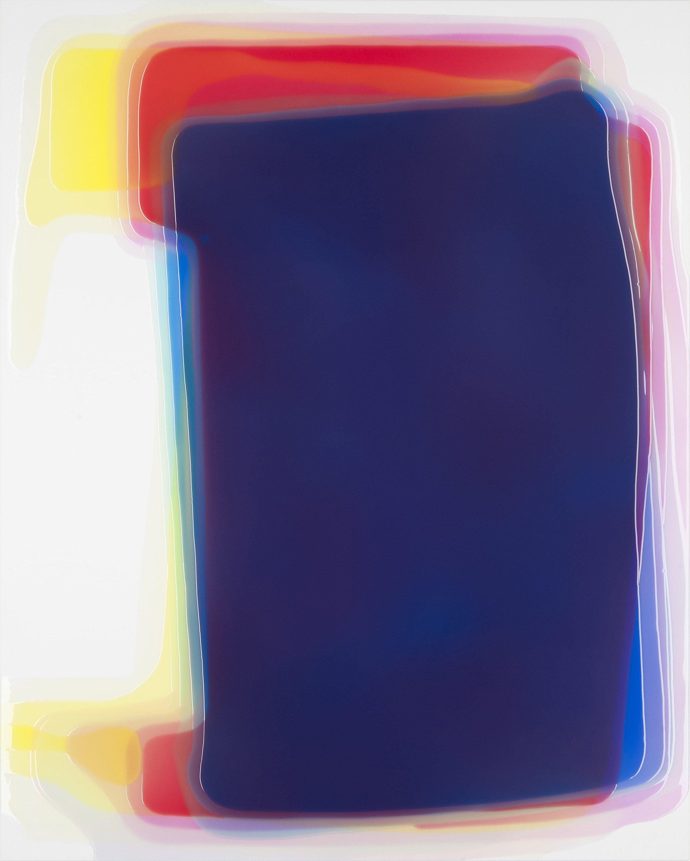 "Tetra,  Epoxy Resin on Canvas, 59""H x 47.25""W"