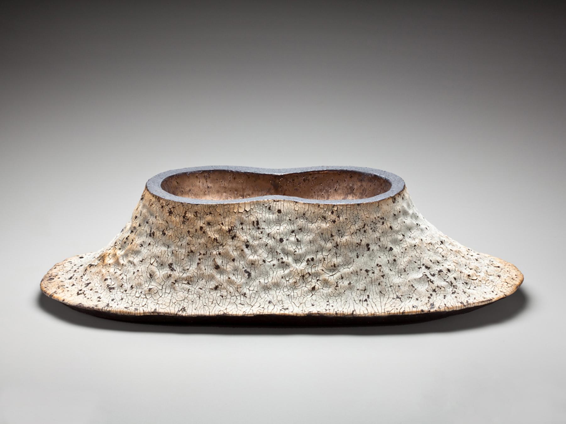 """Plateau Vessel,  22"""" x 10"""" x 23""""Glazed Stoneware"""