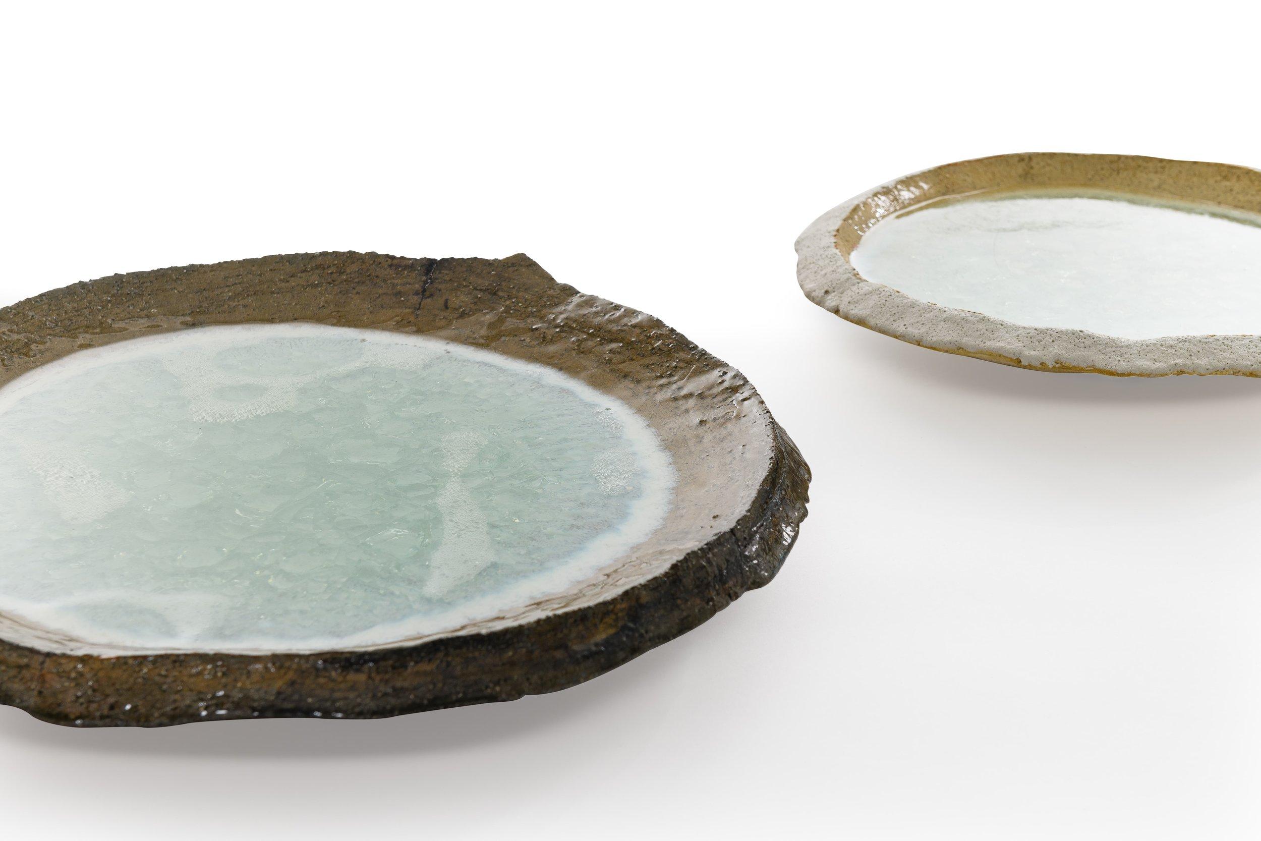 Crystal Pool.  Stoneware, Crystal Glaze