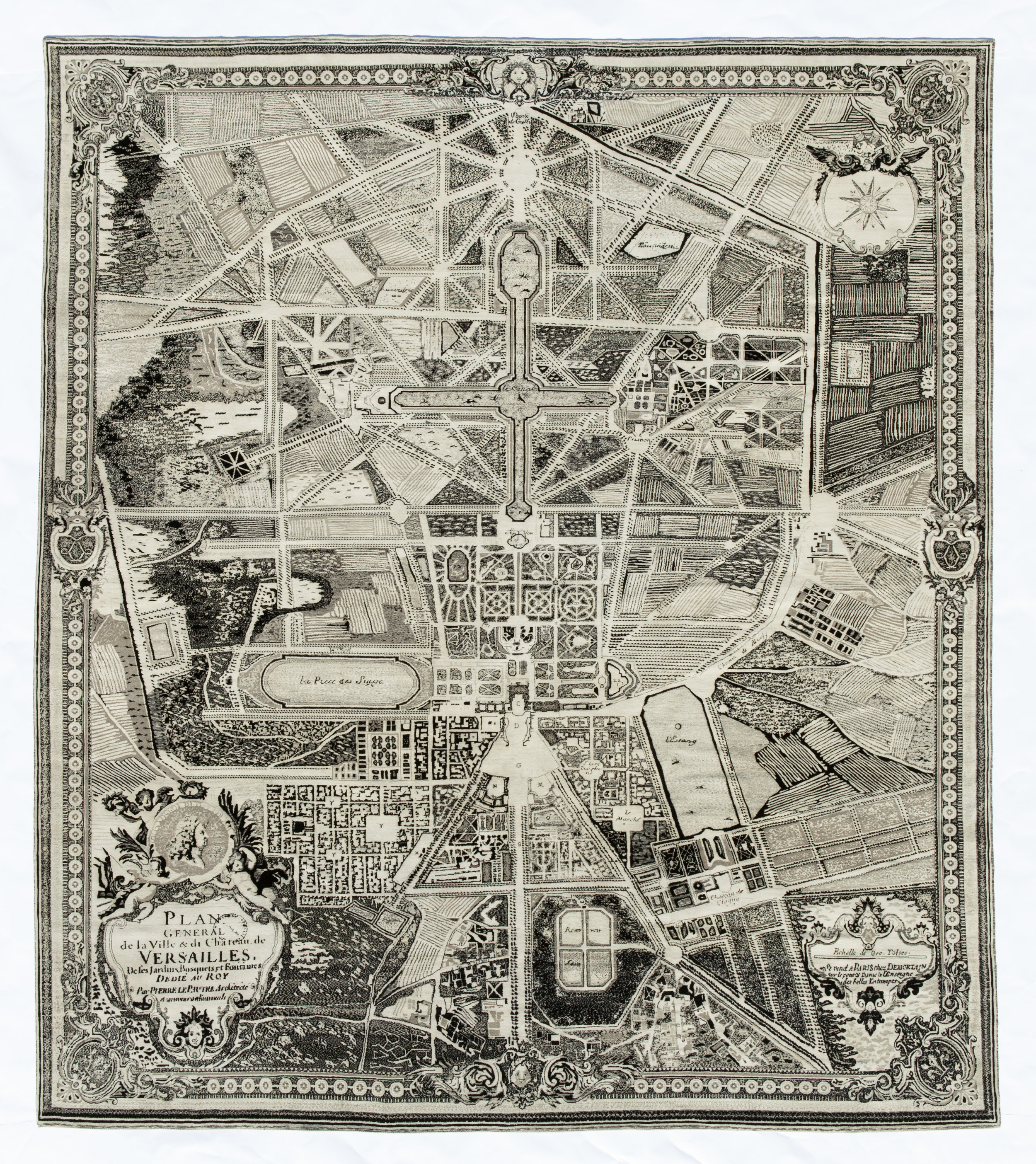 Château & Parc , 2015, Hand-Knotted Persian Rug, Meyghan Weave, Undyed Natural Wool. Avl 192 × 168in and 168 × 144in