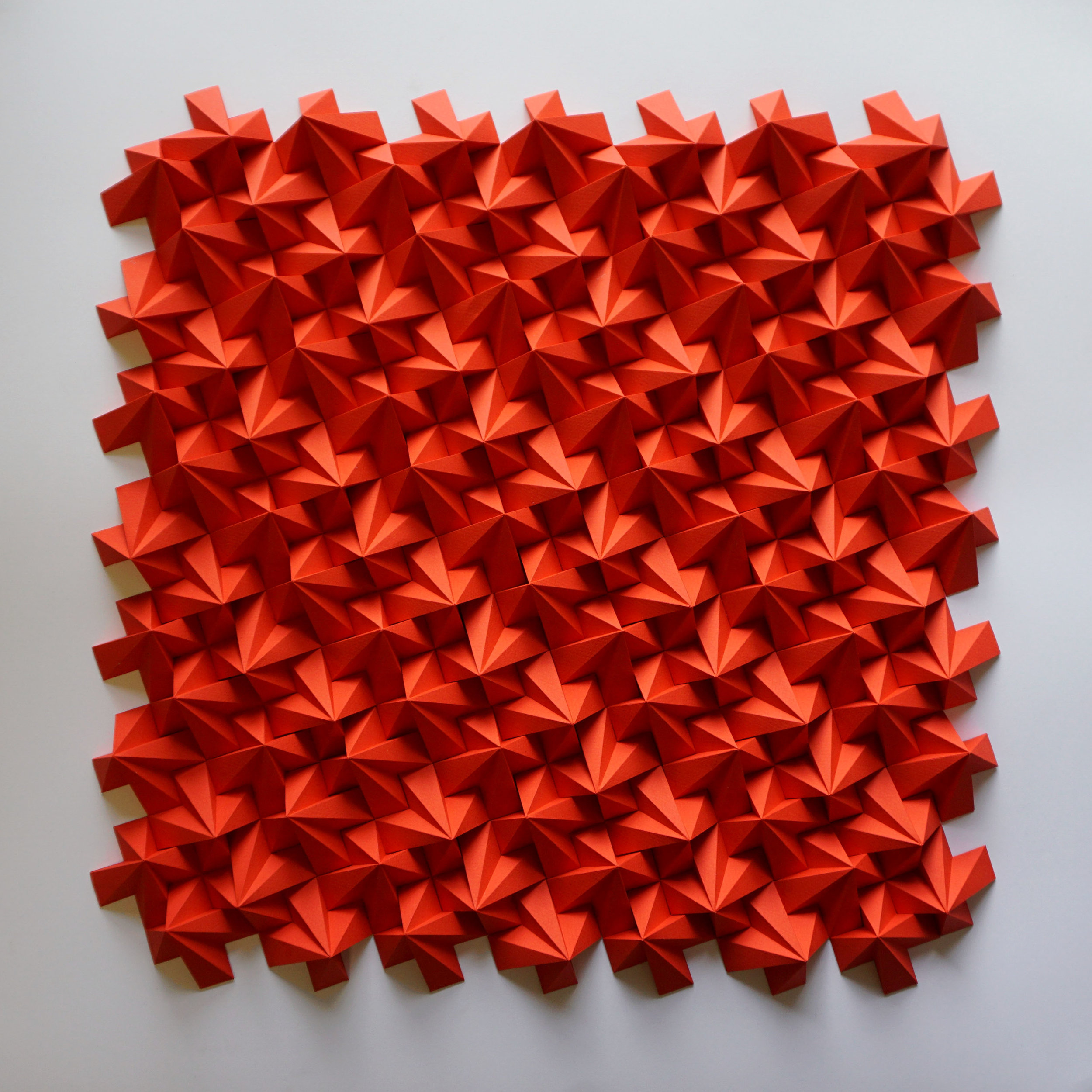 """IEFBR14,  Cut and Folded Paper, 26""""H x 26""""W x 1"""""""