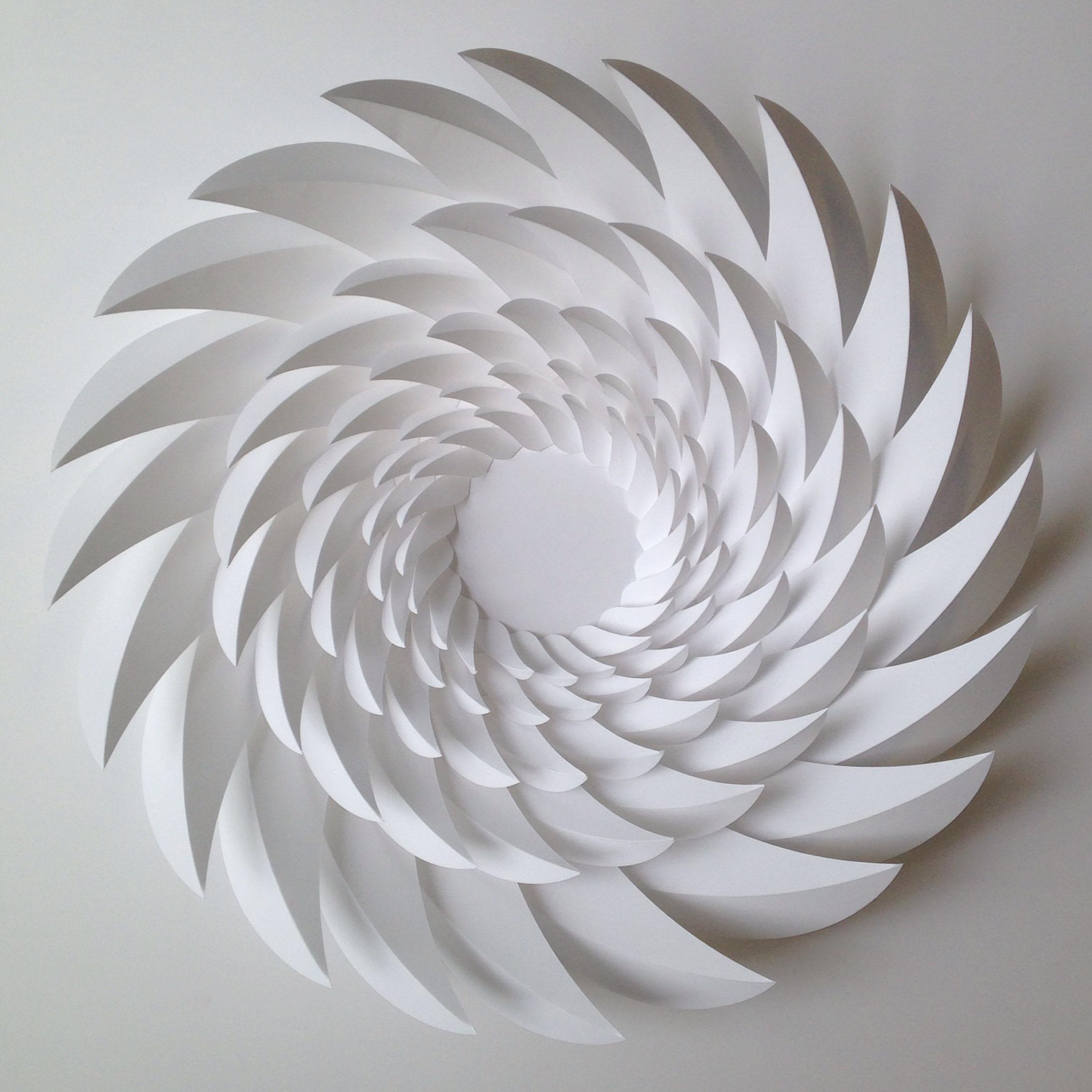 "Retina,  Cut and Folded Paper, 22.5"" x 22.5"" x 5"""