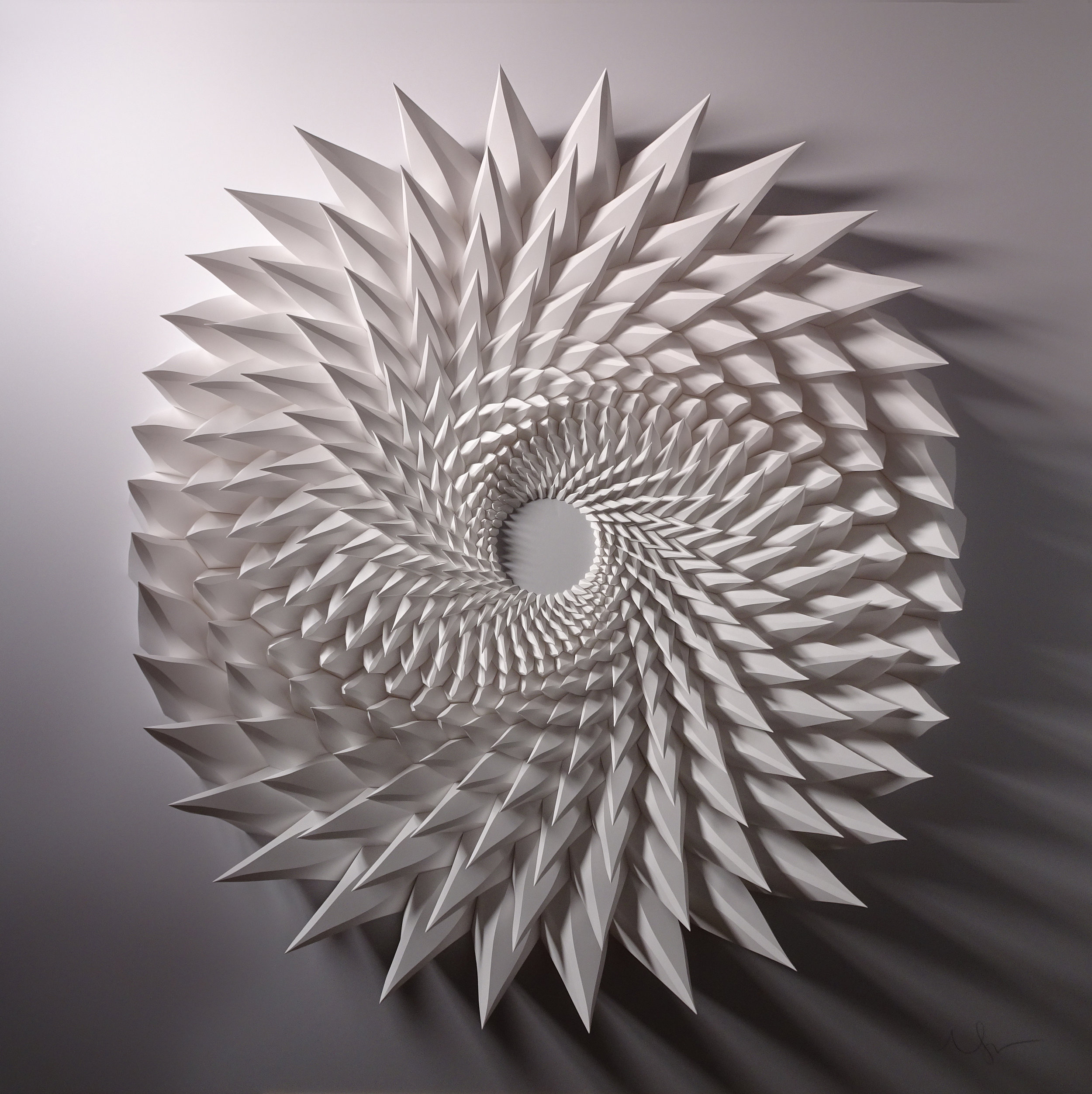 """Unholy 112,  Cut and Folded Paper, 48"""" x 48"""" x 5"""""""
