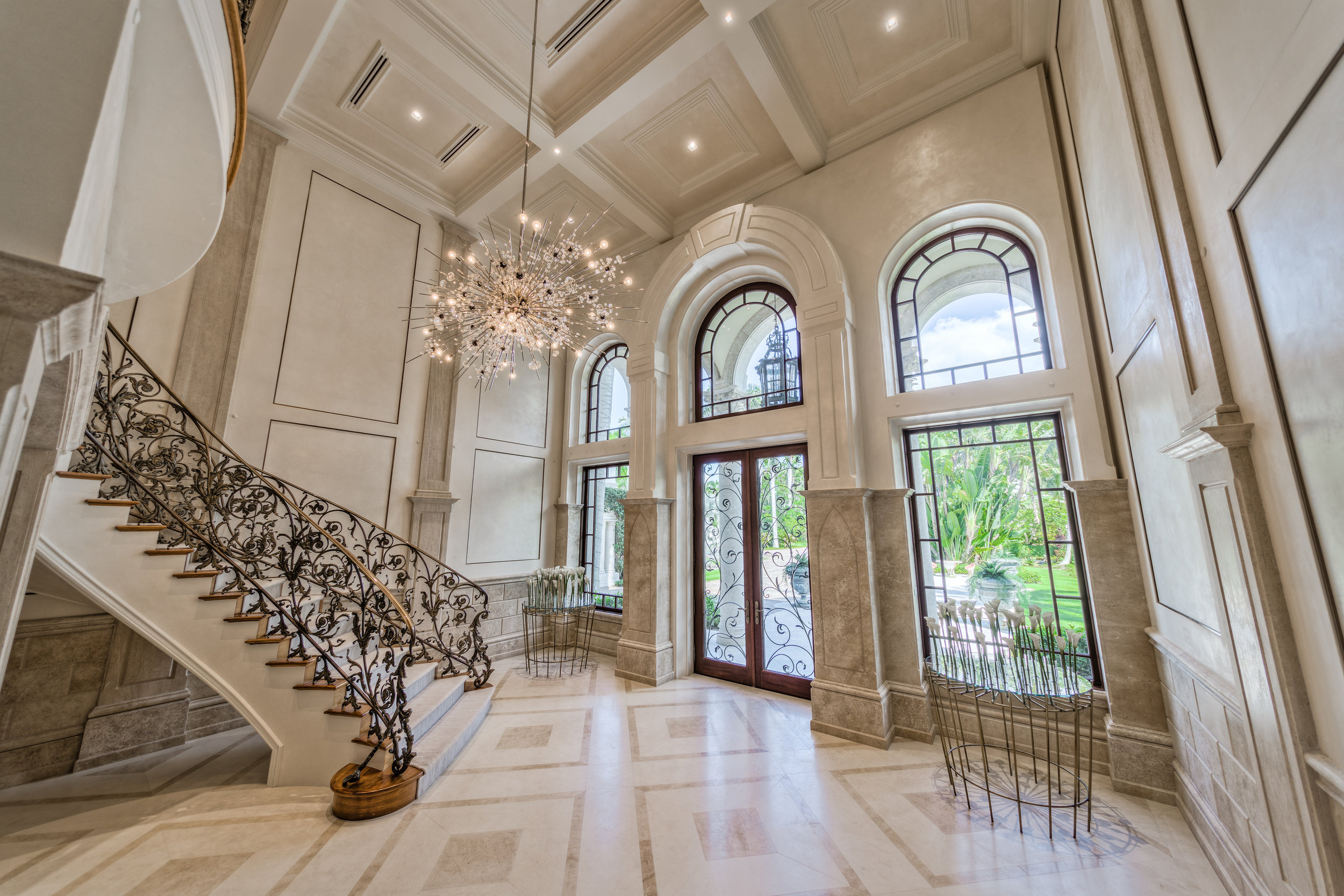 Private Beachfront Estate Grand Foyer
