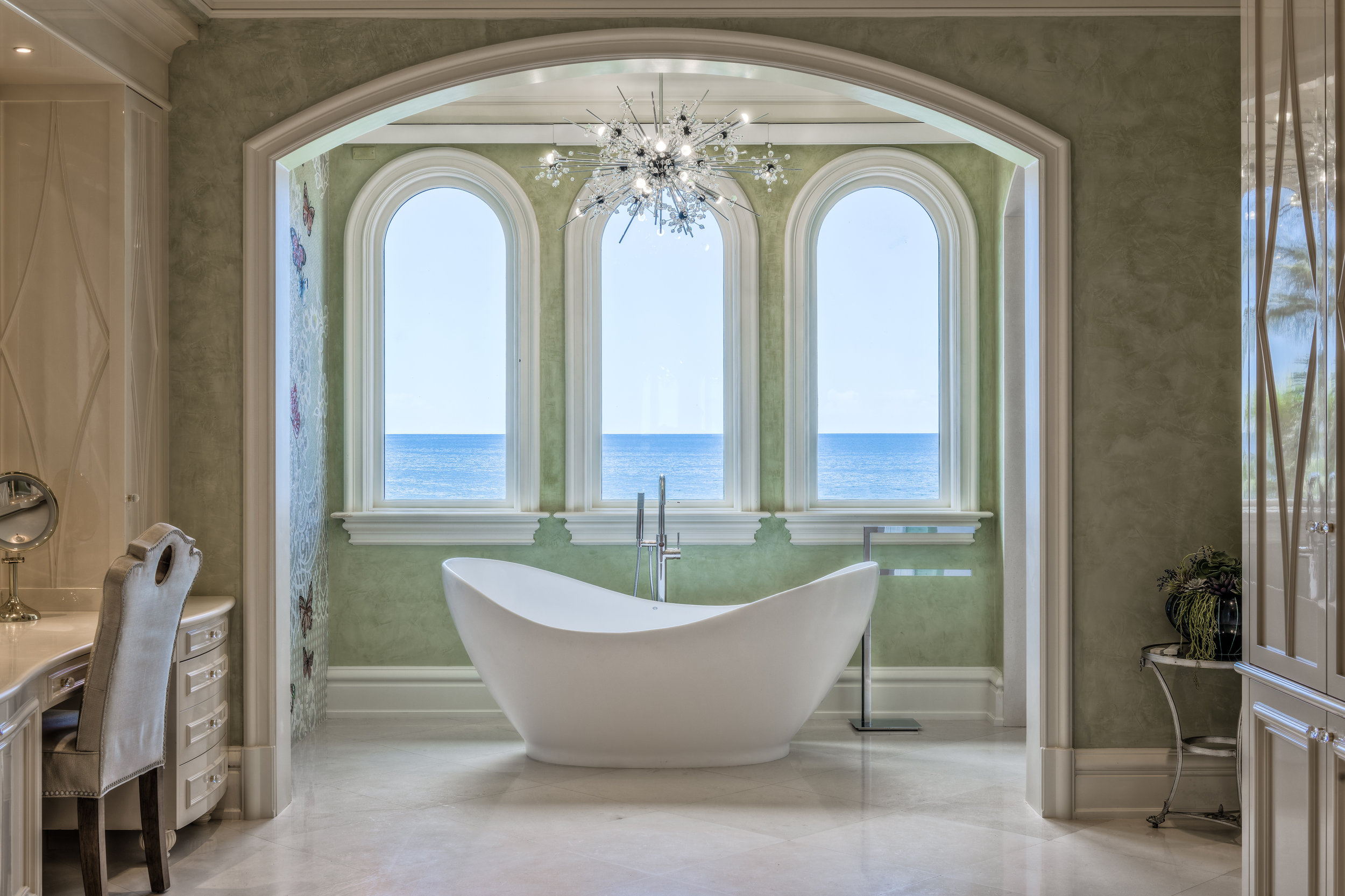 Private Beachfront Estate Master Bath