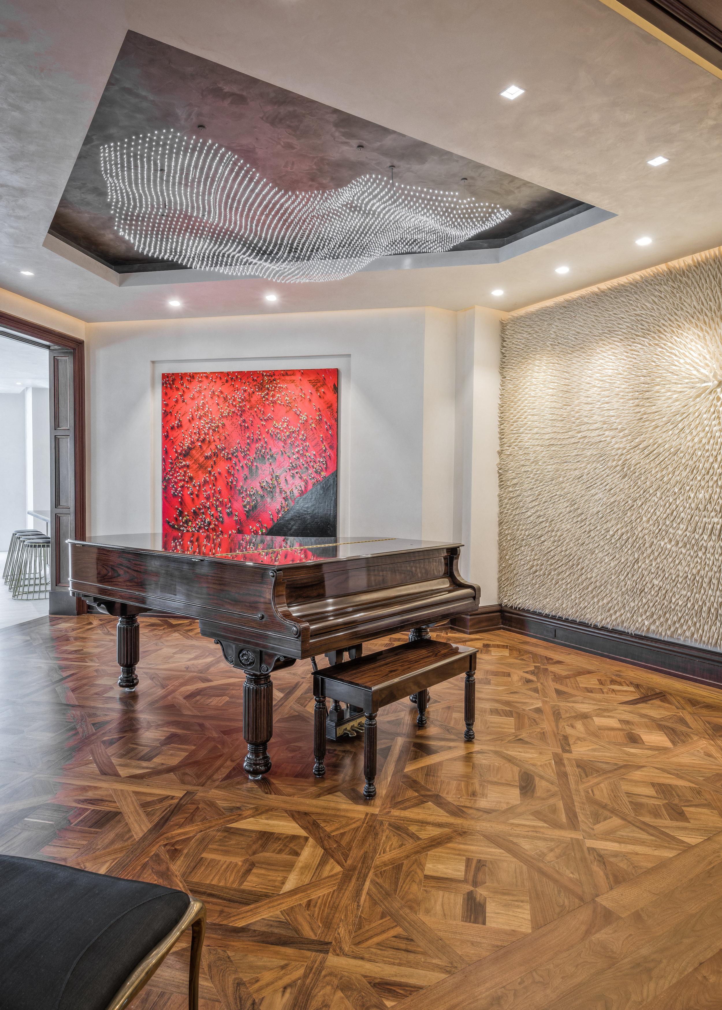 Private Beachfront Estate Piano Room