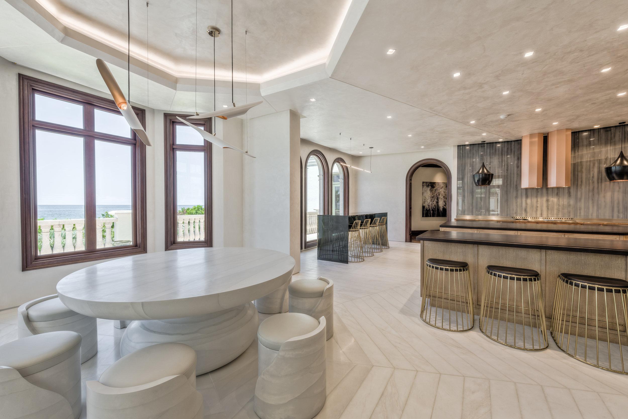 Private Beachfront Estate Kitchen Nook