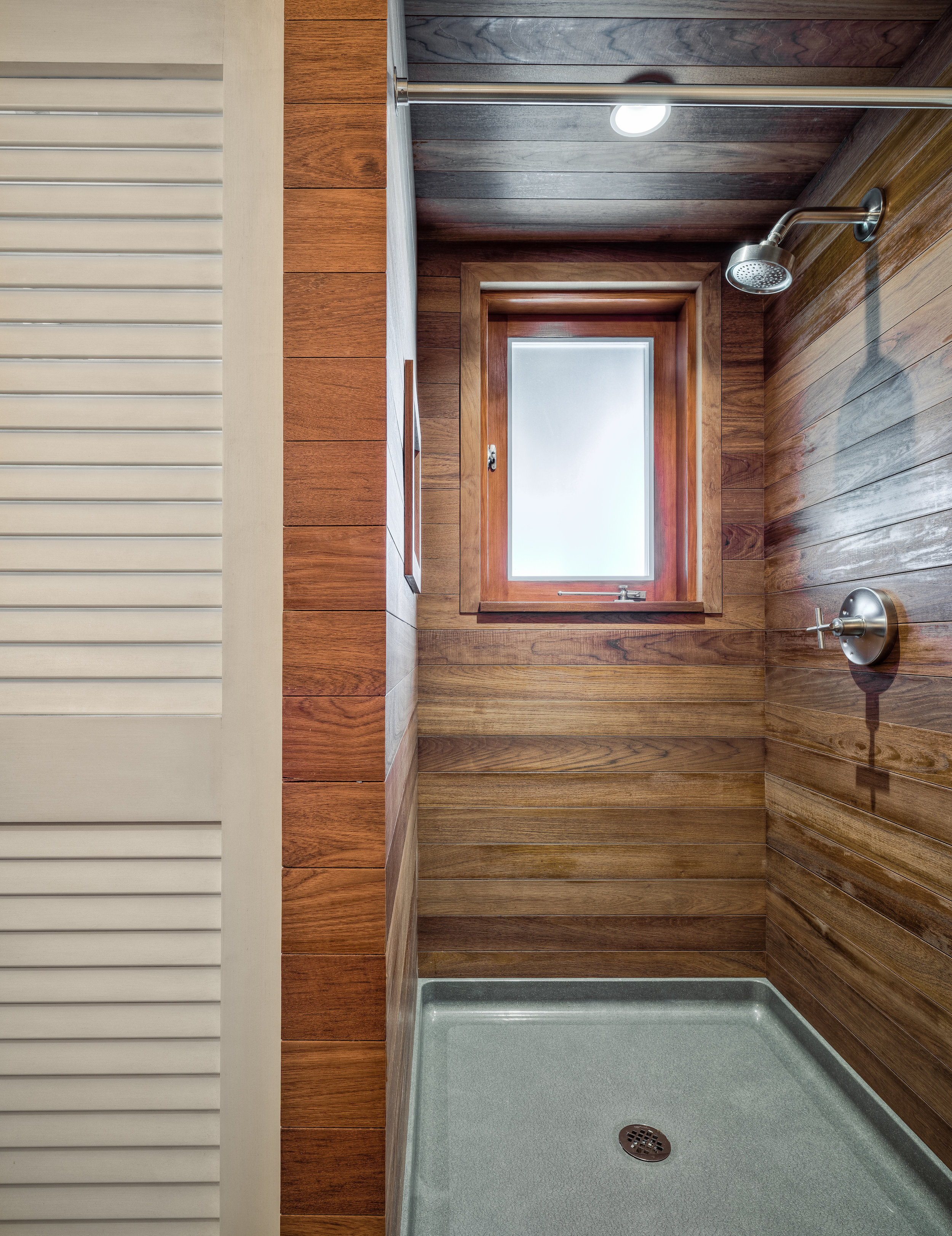 Rustic Tropical Paradise Teak wrapped custom shower
