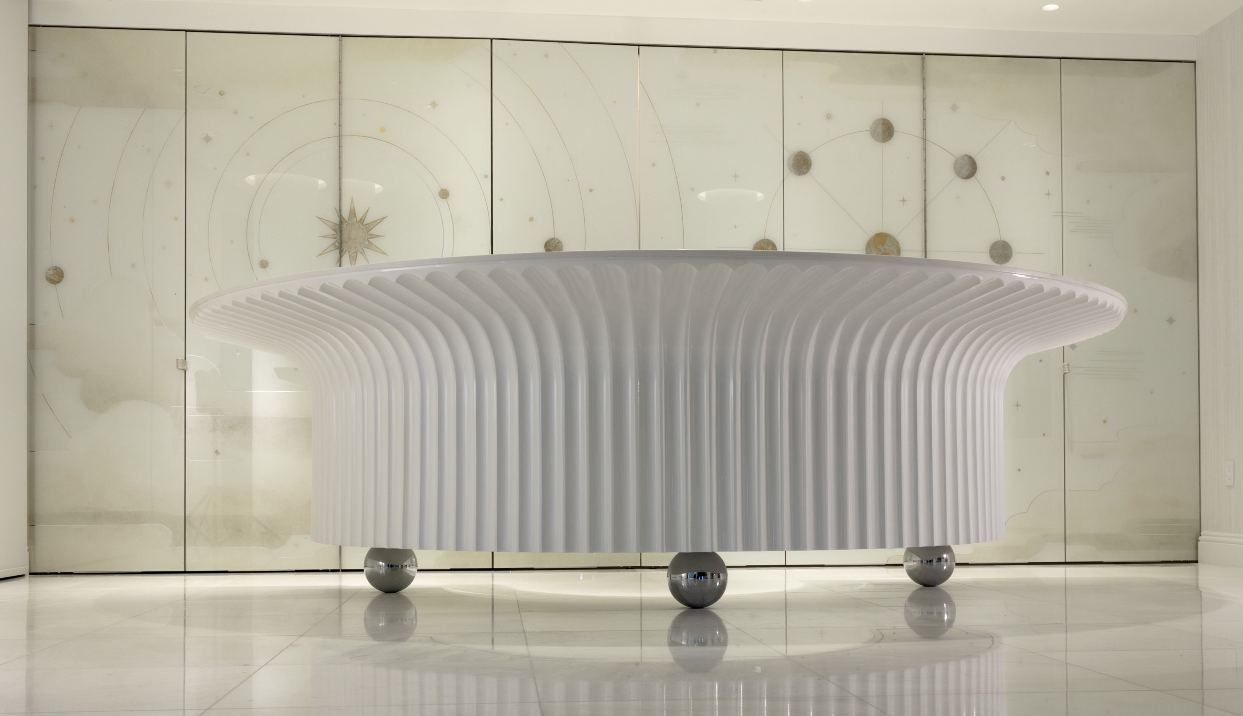 Deco Inspired Floating Bar