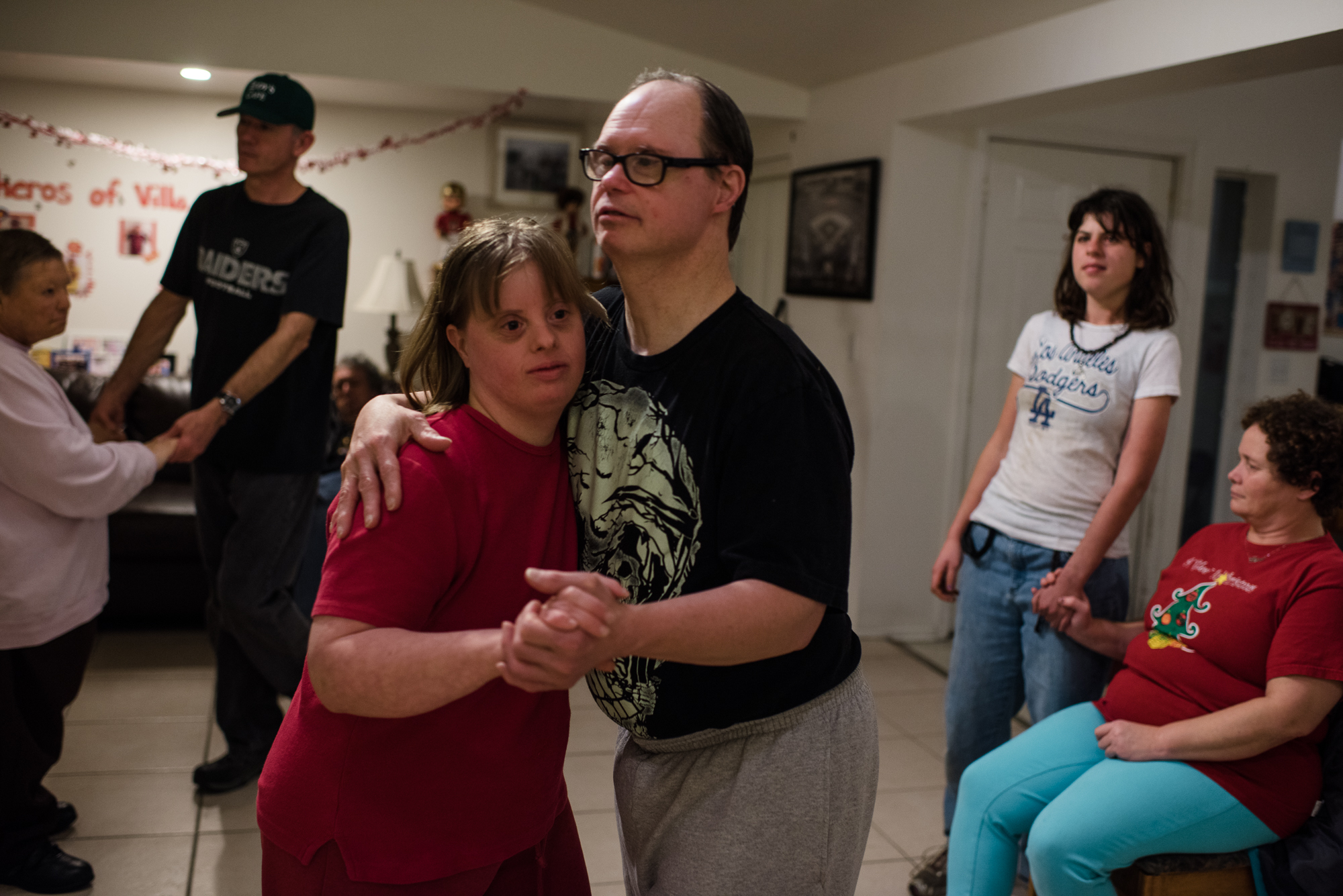 Krysta dances with new love interest, , at the Valentine's Day party inside one of the homes at the ranch.