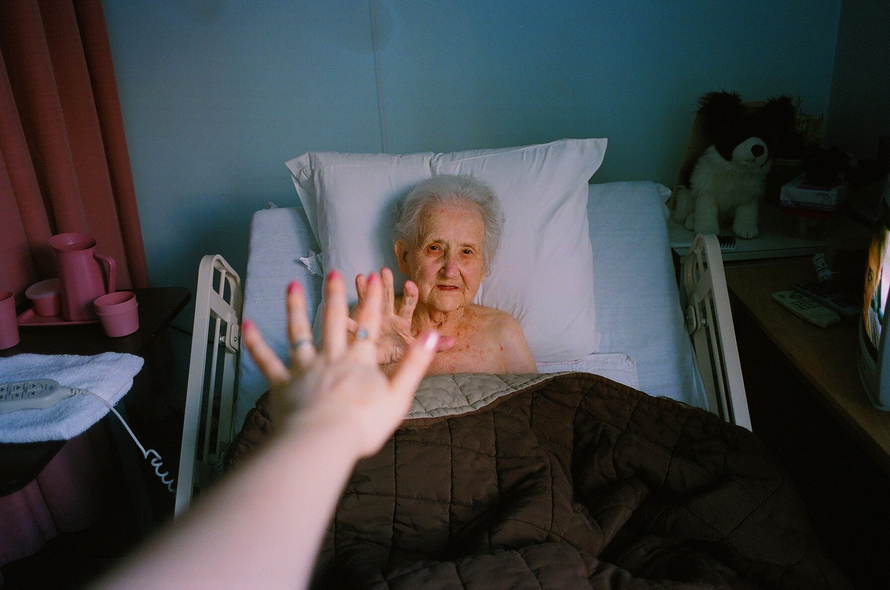 Lena and my hand, 2008.