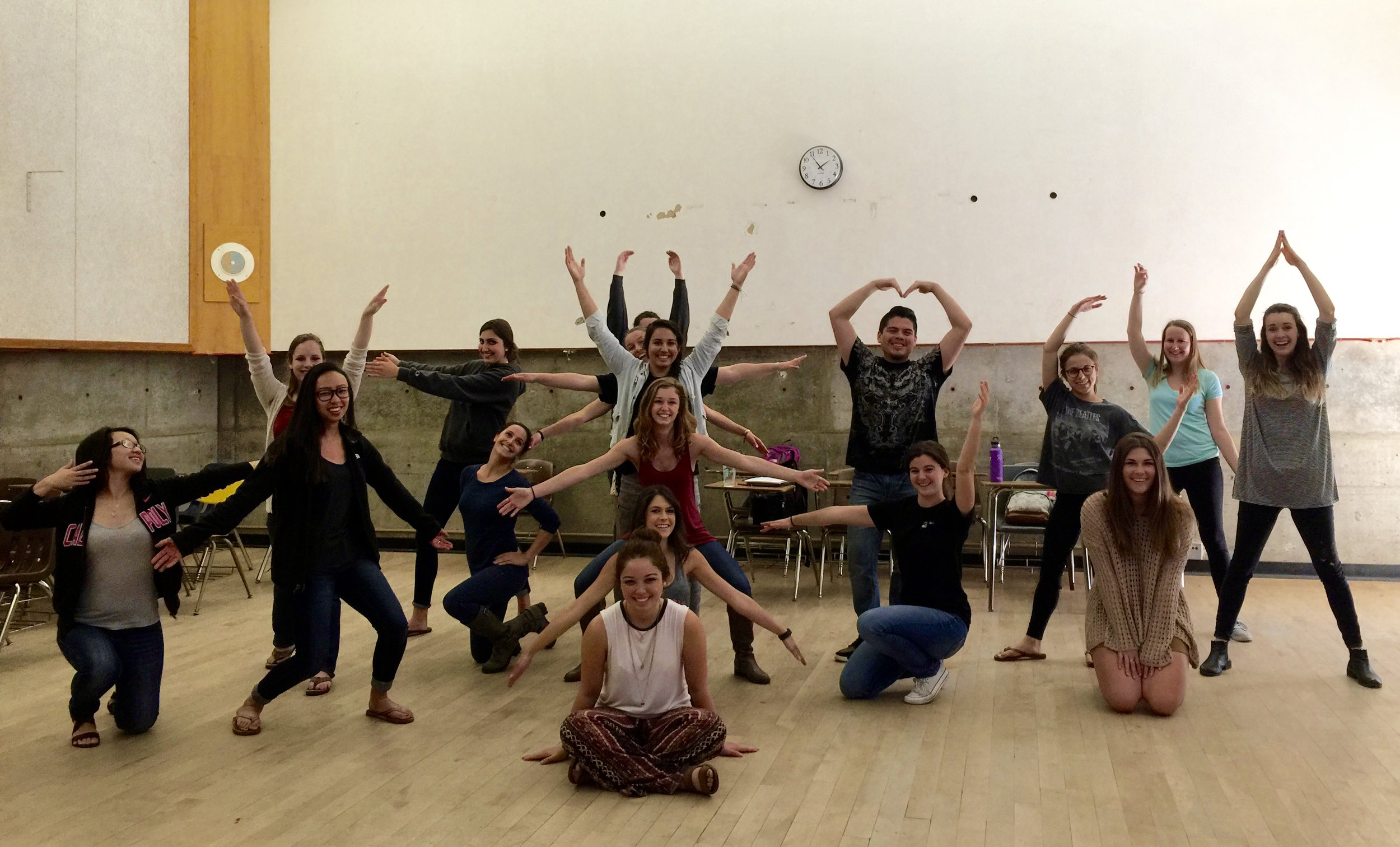 Liberal Studies students at Cal Poly, SLO, CA.  They are learning the importance of bringing Dance to the K-12 classroom!
