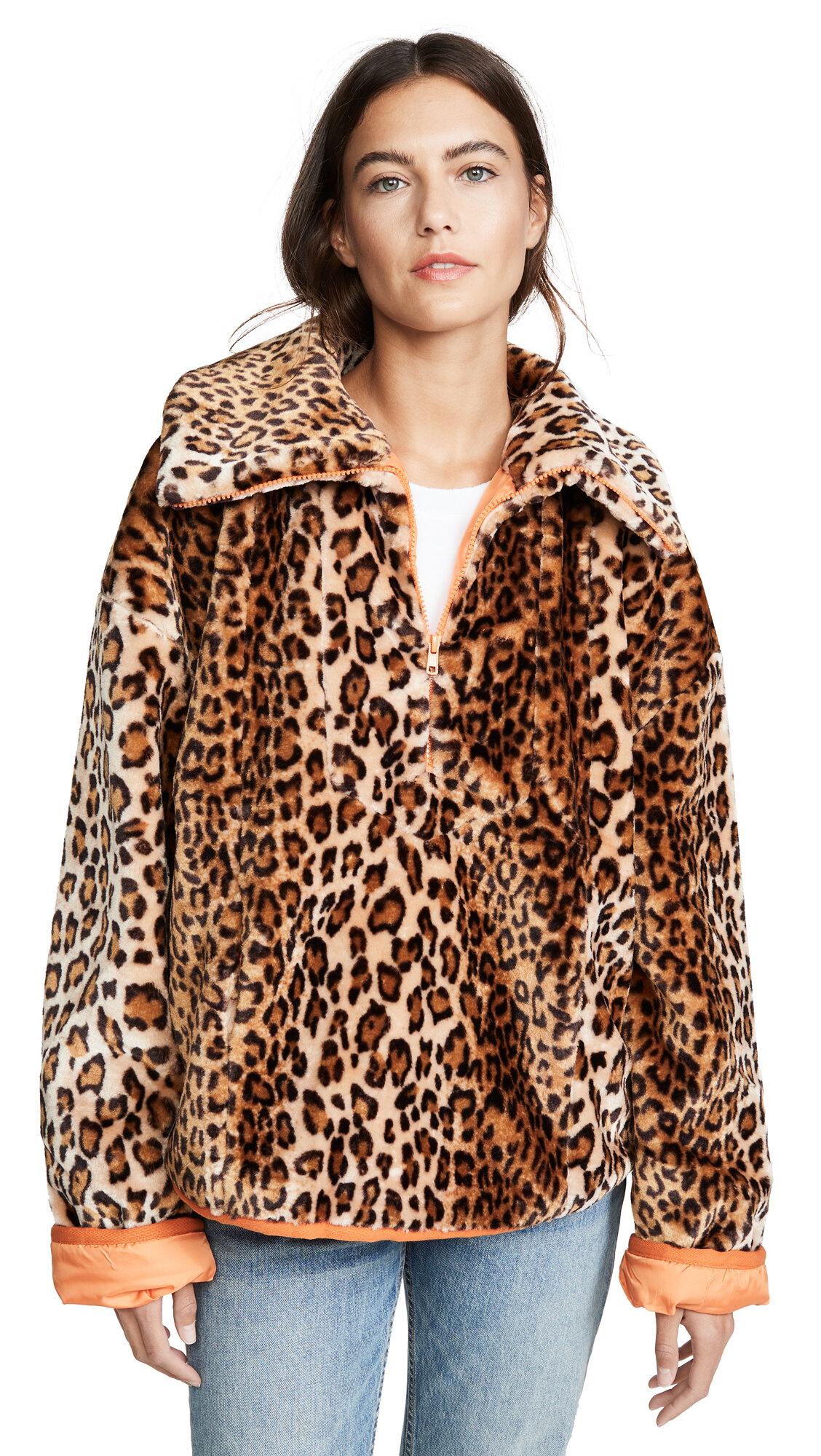 J.O.A Leopard Jacket $100