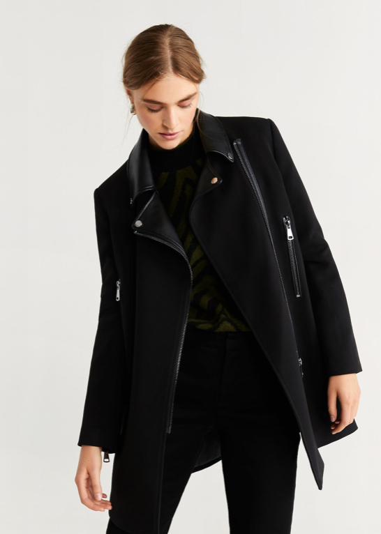 Mango Black Coat $47.99