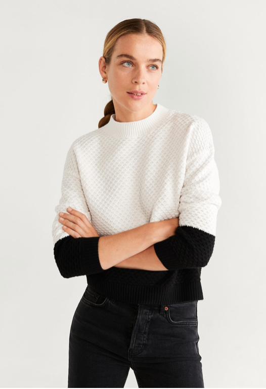 Mango Bicolor Sweater $49.99
