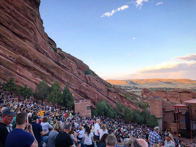 I totally forgot how freaking awesome red rocks amphitheater is. Beautiful wifey took me to see Jason Isbell. He's pretty cool I think. #redrocksamphitheater #jasonisbell