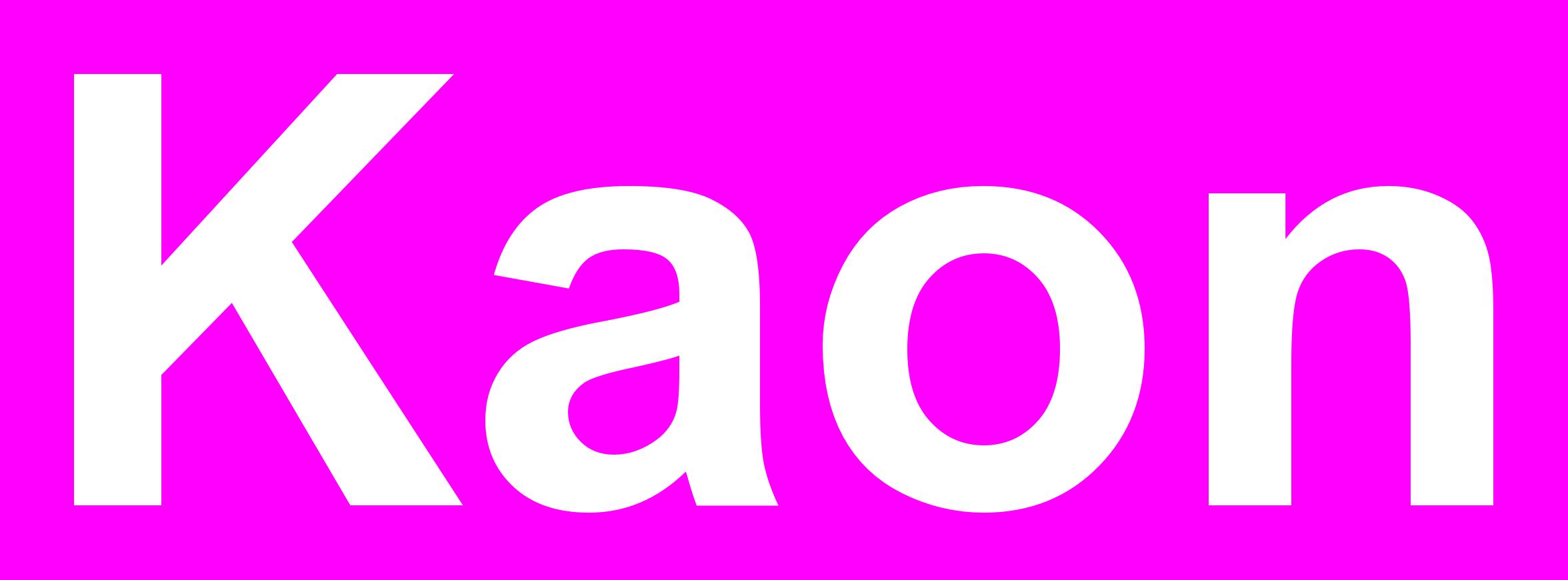 Kaon-Logo-Big-NoStrapLine-WhiteOnMagenta.png