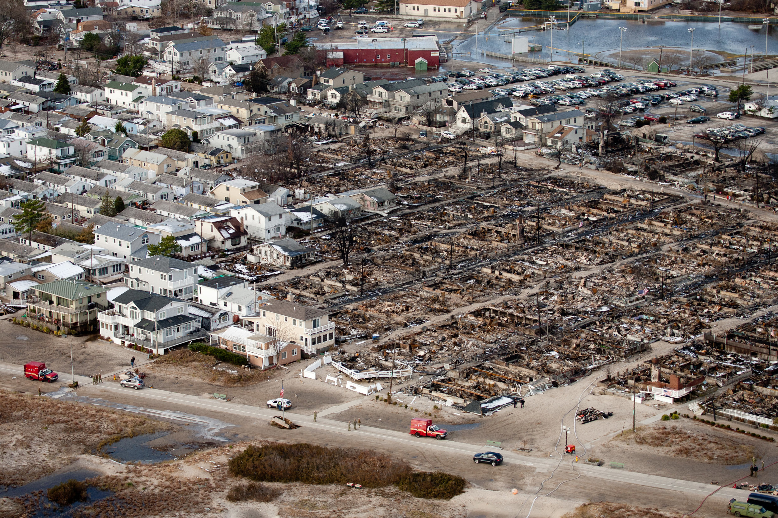 Flooding in Breezy Point caused by Hurricane Sandy. Photo courtesy of FEMA.