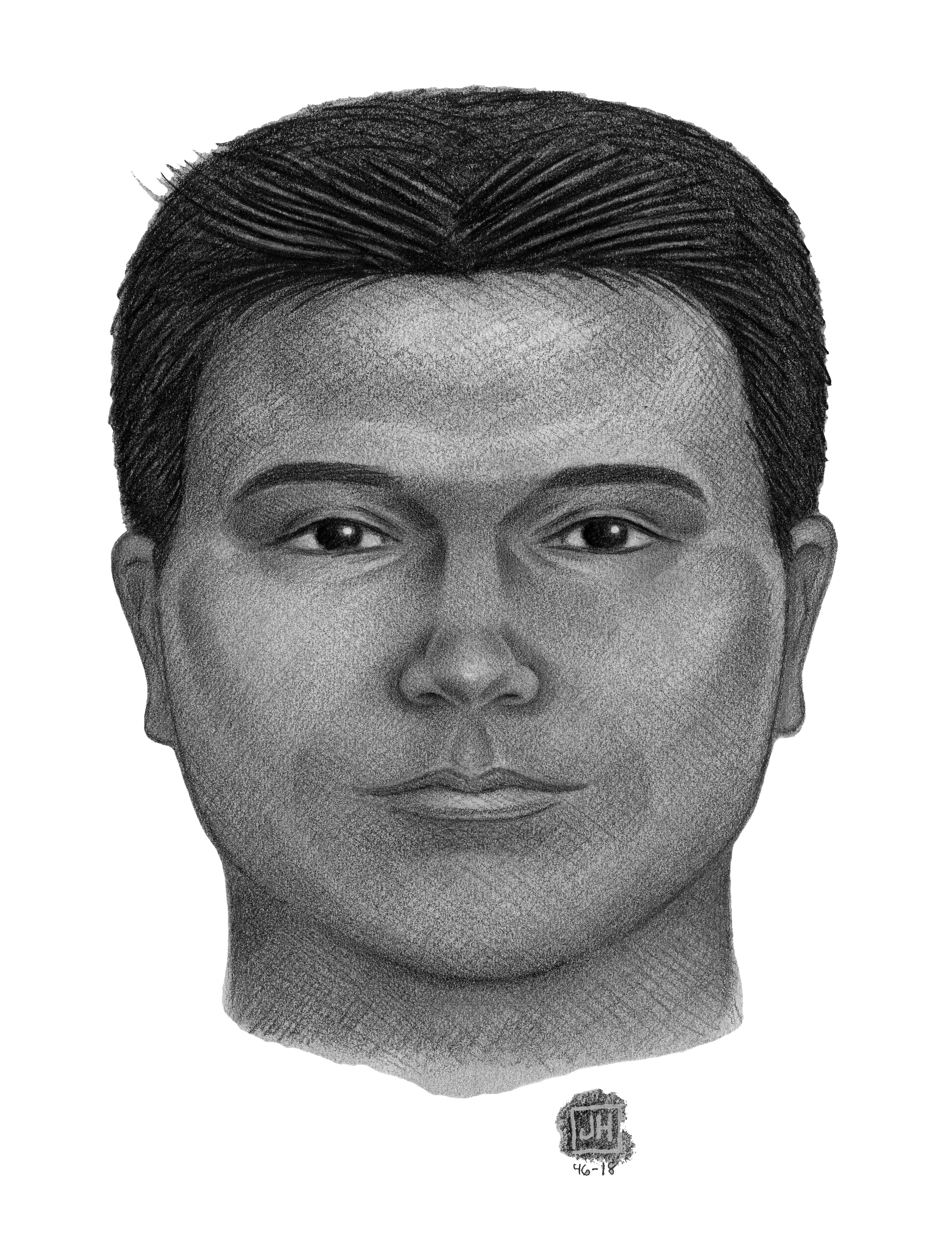 A police sketch of the suspect. Photo courtesy of the NYPD.