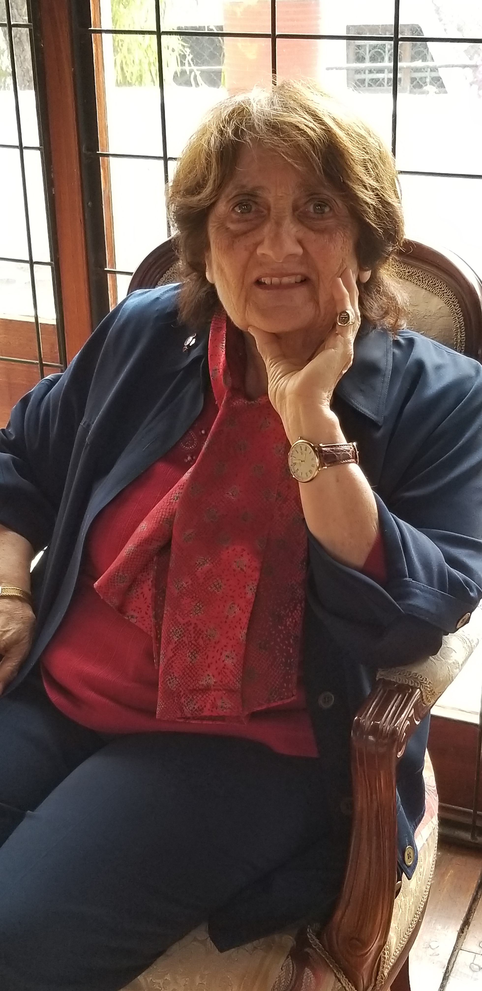 Caption: Dr. Marie-Lise Gazarian was awarded a lifetime achievement award from the Ecuadorian government for her work as an educator. Photo courtesy of St. John's.