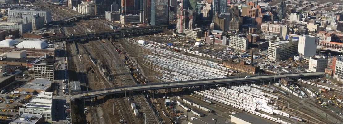 Aerial view of Sunnyside Yard, proposed site of a massive development project. Photo courtesy of NYCEDC