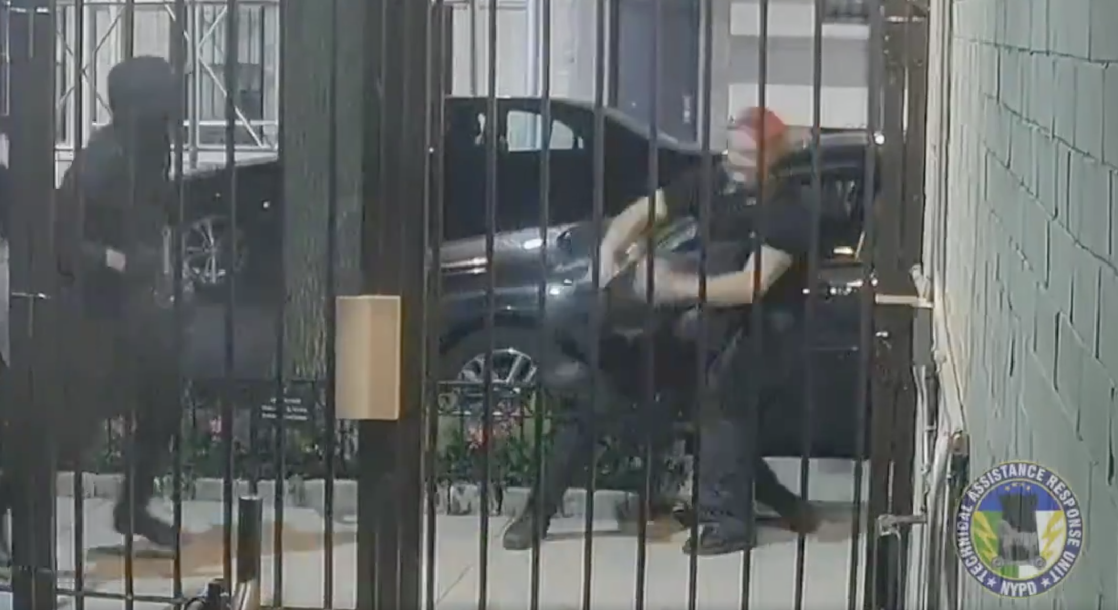Surveillance footage captured the attack by the far-right Proud Boys, including Jackson Heights resident Irvin Antillon. // Image courtesy of NYPD