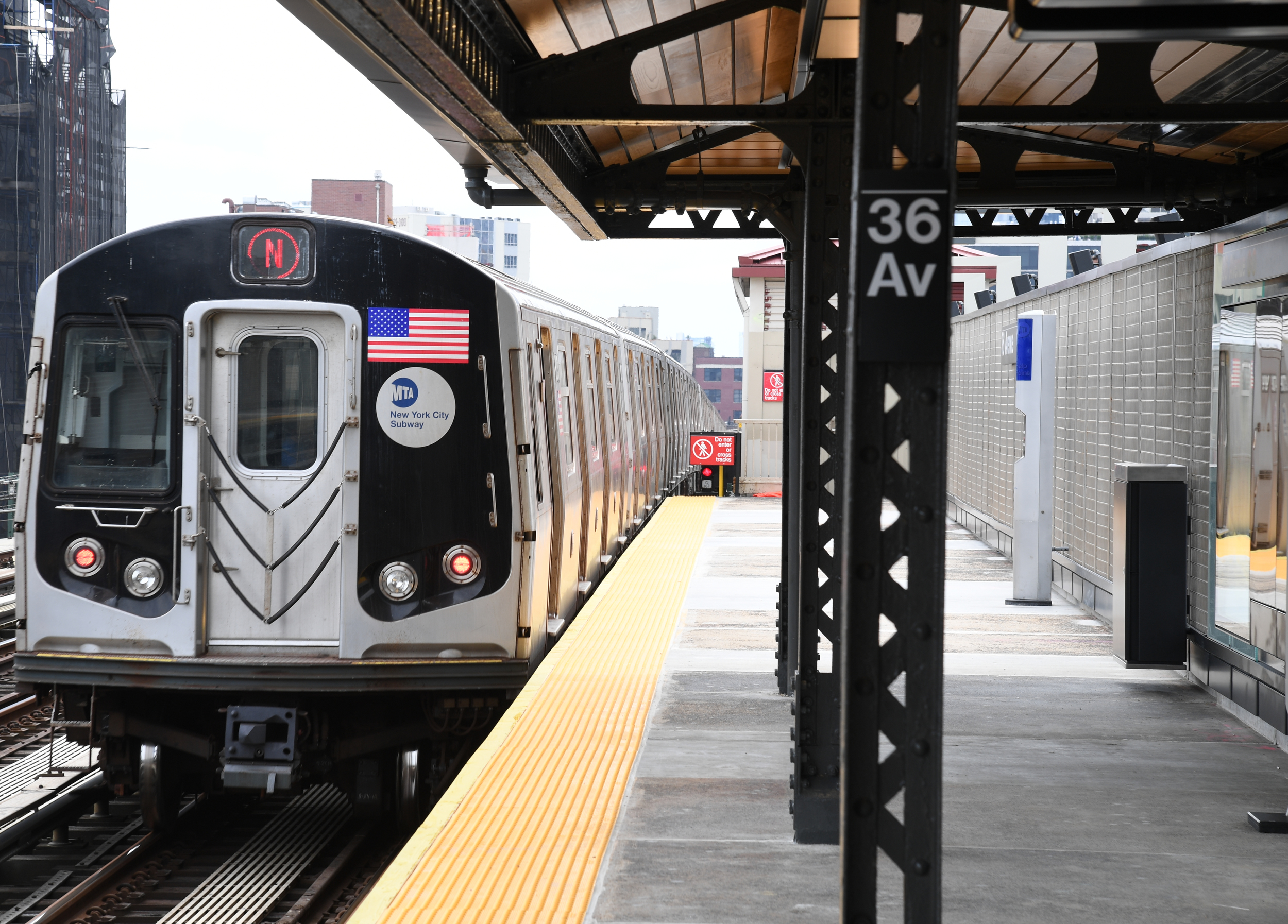 The 36th Avenue Station on the N/W line. Photo courtesy of the MTA.