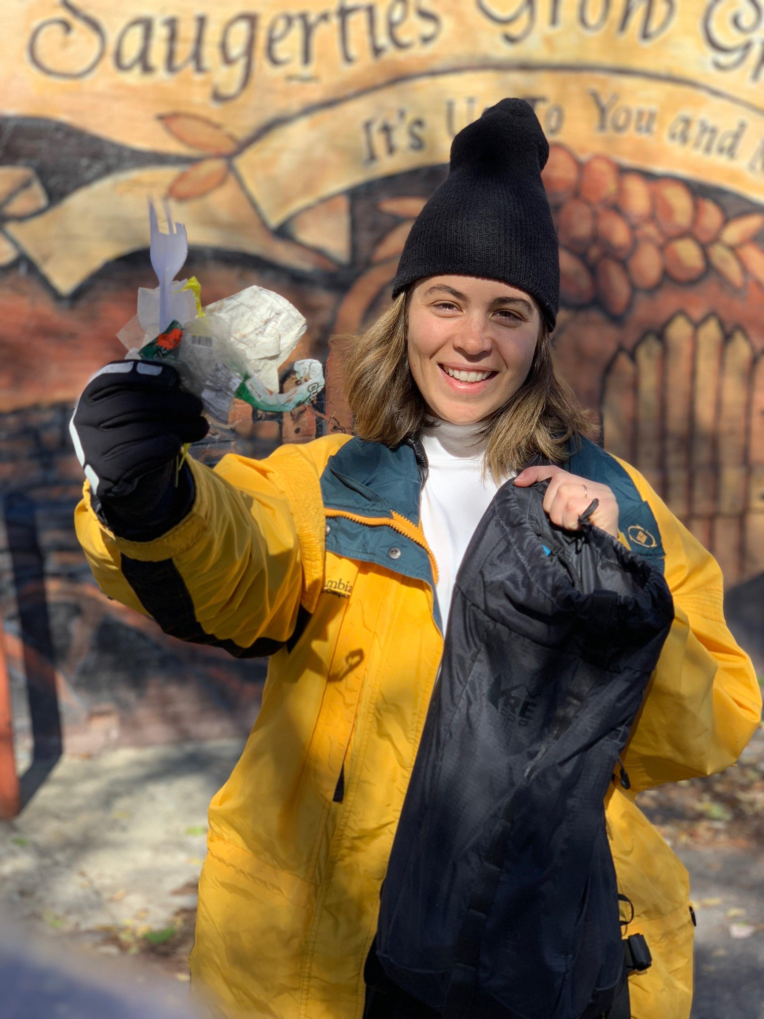 Eagle contributor Meg Lazaros strives to live a zero waste lifestyle to counter climate change. Photo courtesy of Meg Lazaros.