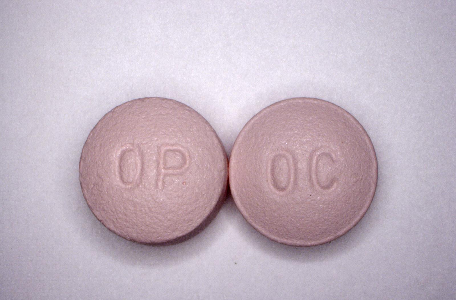 Oxycontin tablets. Photo courtesy of the DEA.