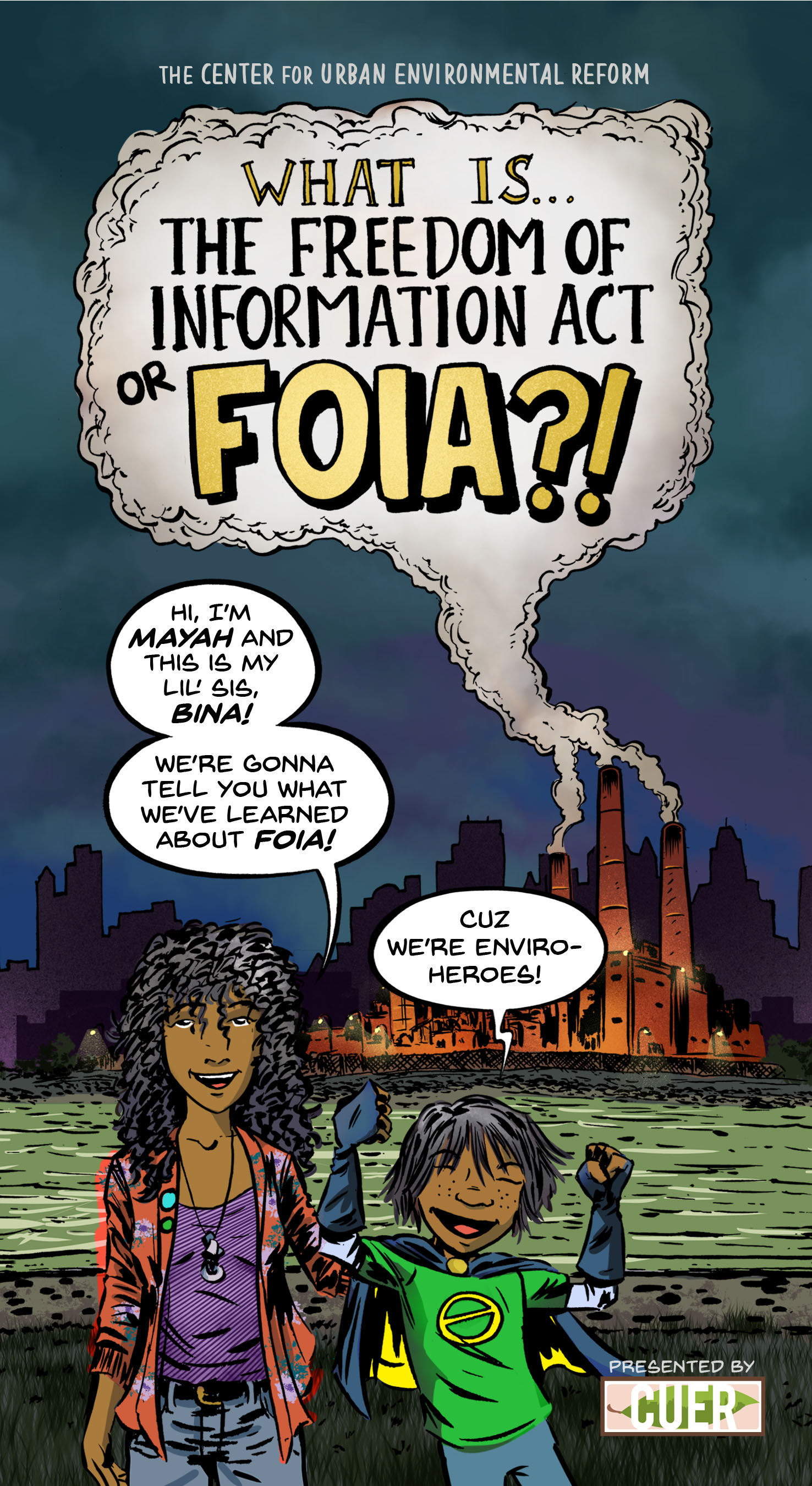 The cover of a new graphic novel designed to teach children about the Freedom of Information Act (FOIA). Image courtesy of Rebecca Bratspies.