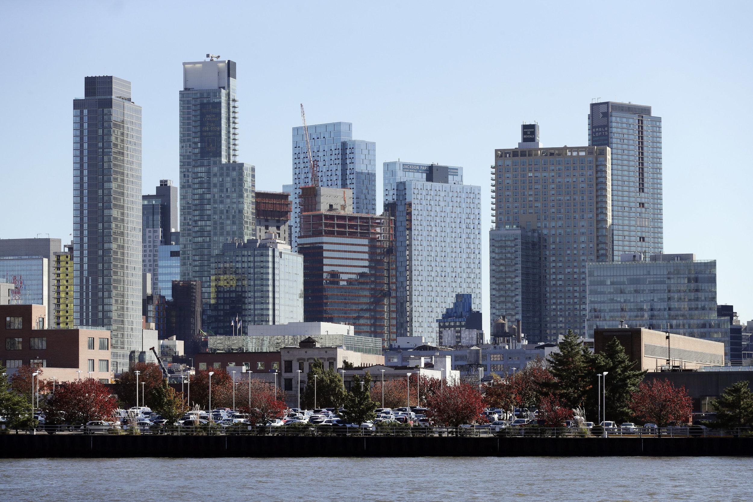 The Long Island City skyline. AP Photo by Mark Lennihan.