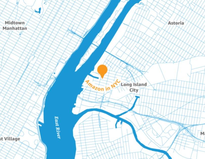 The location of Amazon's new headquarters. Photo courtesy of Amazon.