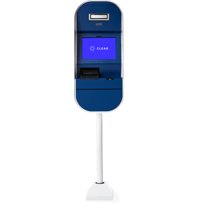 CLEAR biometric scanner. Photo courtesy of CLEAR.