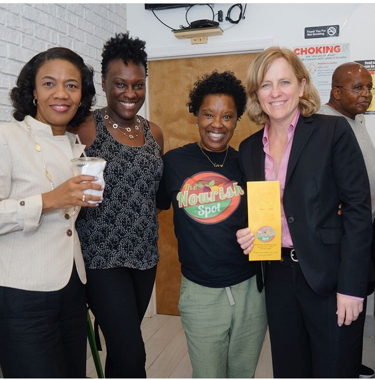 From left to right: Shurn Anderson, Former Deputy Queens Borough President Melva Miller, Dawn Kelly and Queens Borough President Melinda Katz. Photo courtesy of Dawn Kelly.