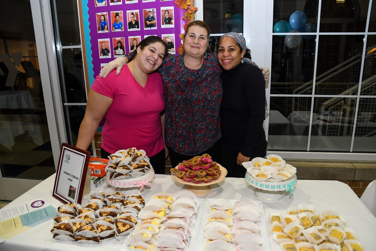 Staff from Norma's Corner Shoppe provided baked desserts. Photos courtesy of Ridgewood YMCA.