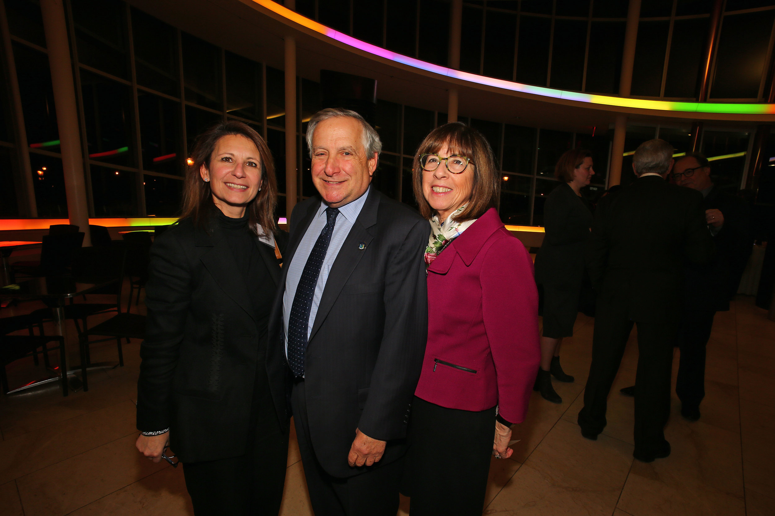 From left, the Judge Donna-Marie E. Golia, Judge Jeremy S. Weinstein and Judge Bernice Siegal.