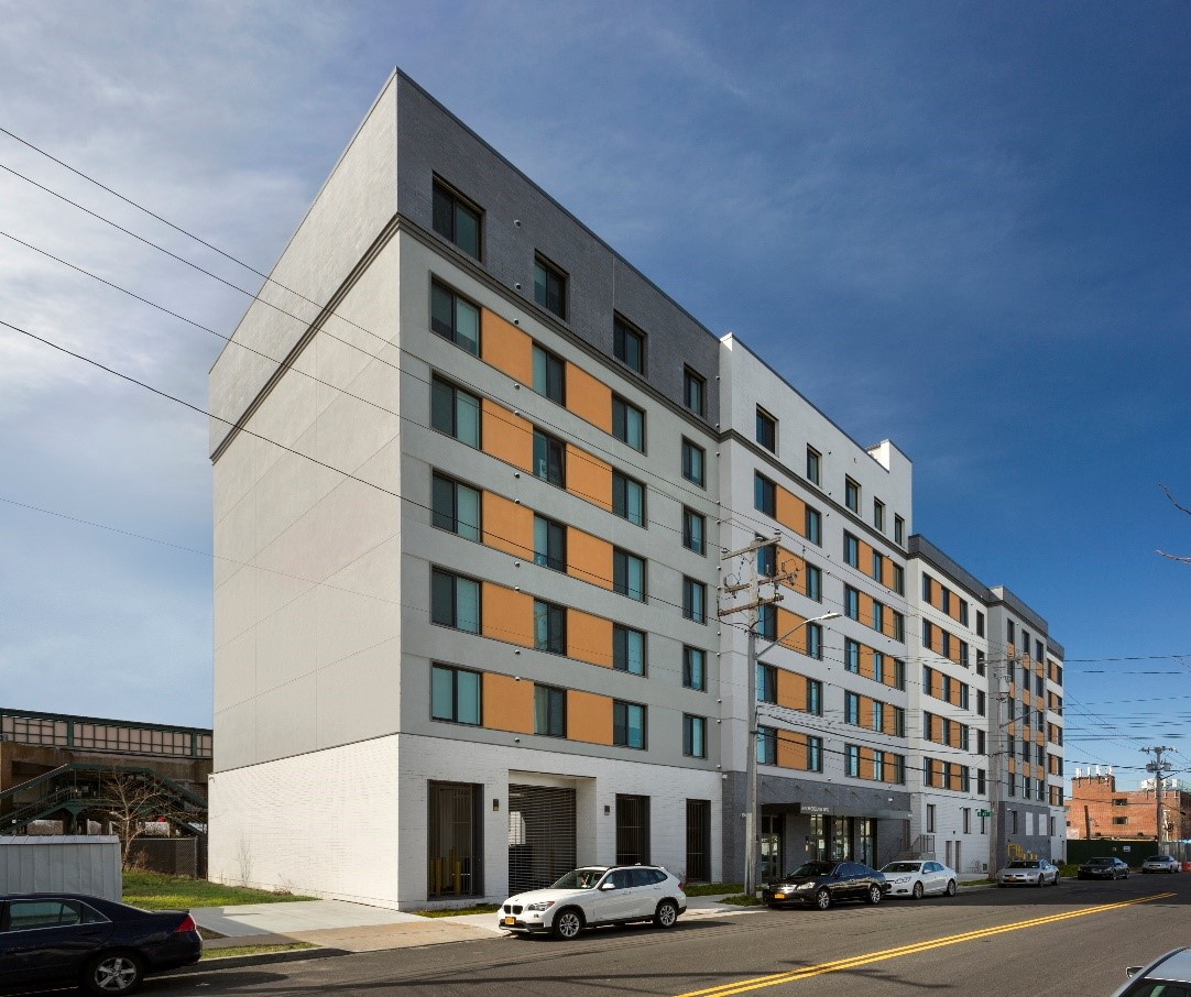 Beach Green Dunes in Far Rockaway won the award for best sustainable construction among mixed-use buildings.