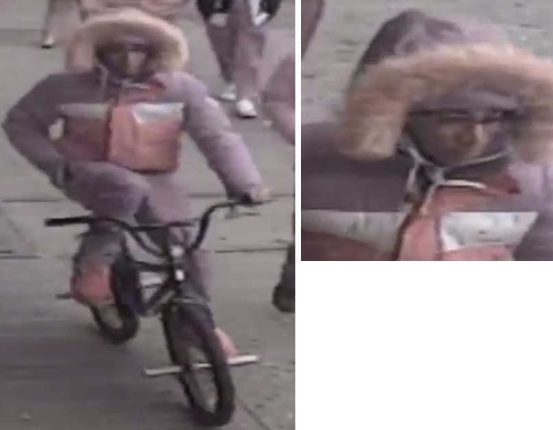 Photo of a suspect accused of robbing three people throughout Richmond Hill and while riding a bicycle. Photo courtesy of the NYPD.