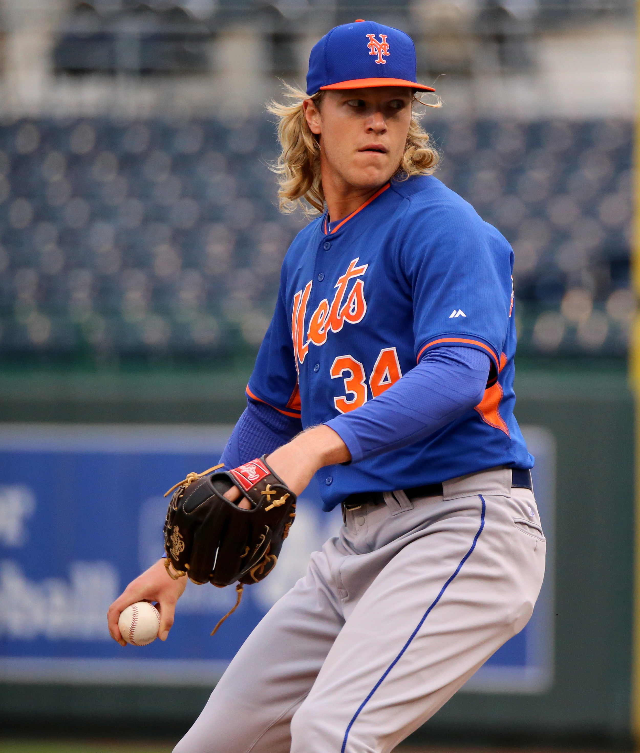 Mets pitcher Noah Syndergaard is the namesake of Syndergaard, a horse who won at Aqueduct Saturday. Photo by Arthur Pardavila III.