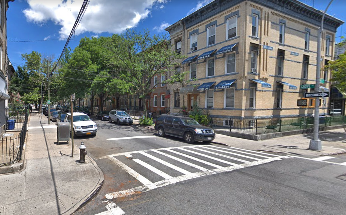 Intersection of Grove Street and Cypress Avenue in Ridgewood. Photo via Google Maps.